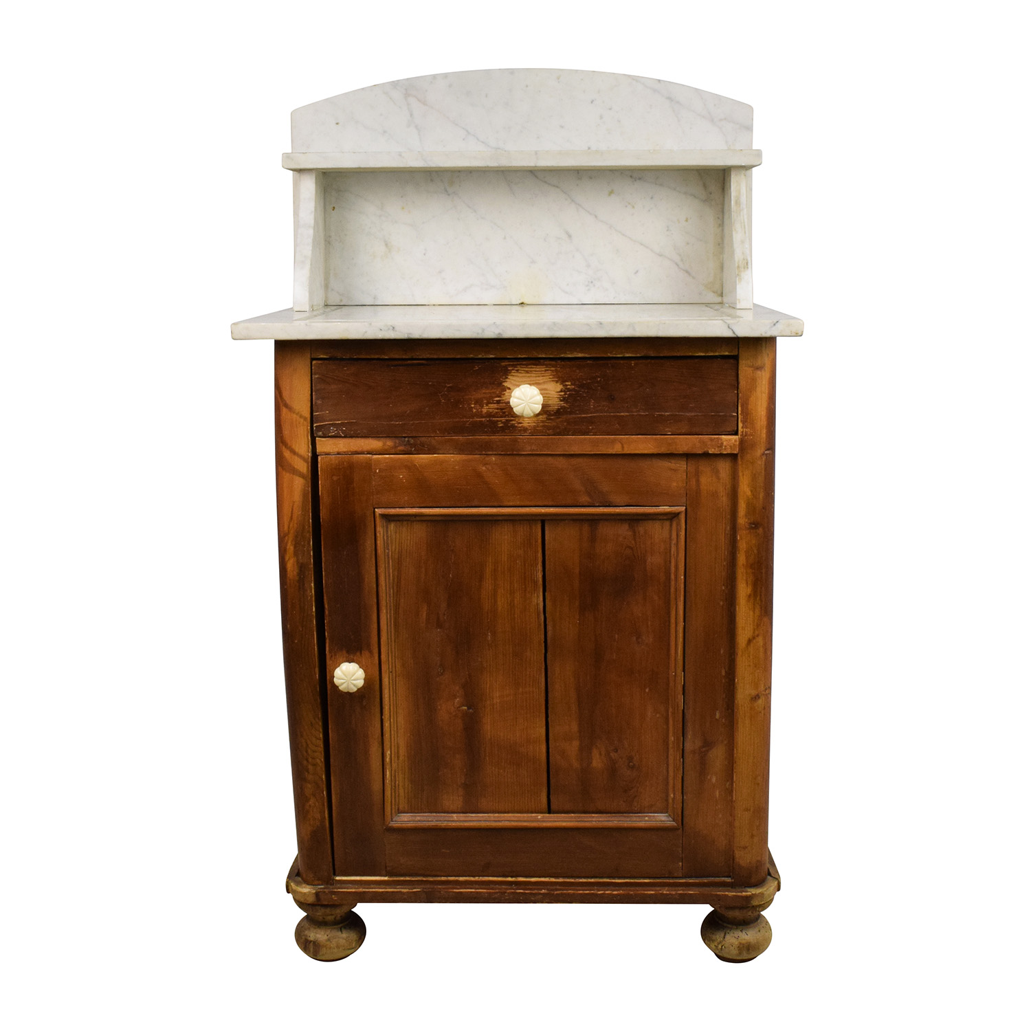 Evergreen Evergreen Rustic Marble Topped Storage Cabinet second hand