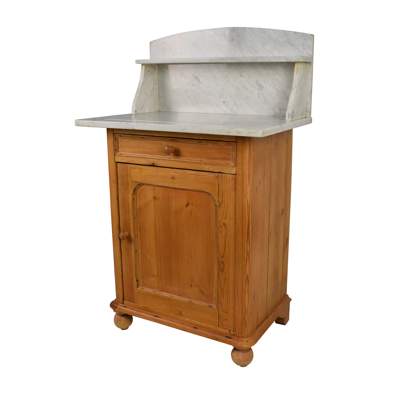 ... Evergreen Evergreen Rustic Marble Topped Storage Cabinet Cabinets U0026  Sideboards ...