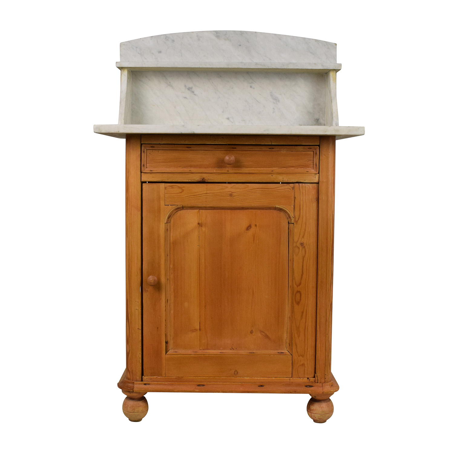 buy Evergreen Rustic Marble Topped Storage Cabinet Evergreen