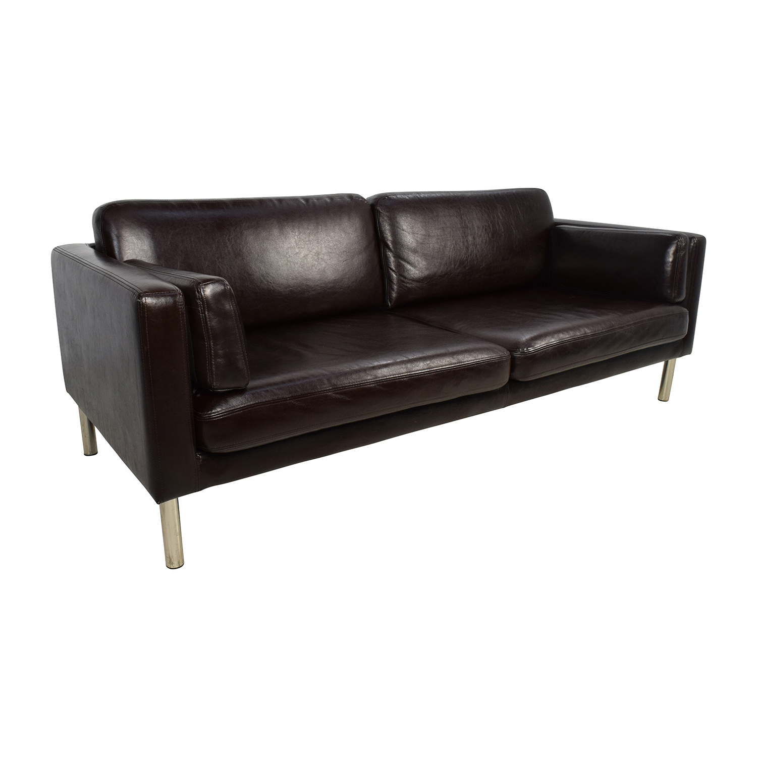Leather Sofa With Chrome Legs Home The Honoroak