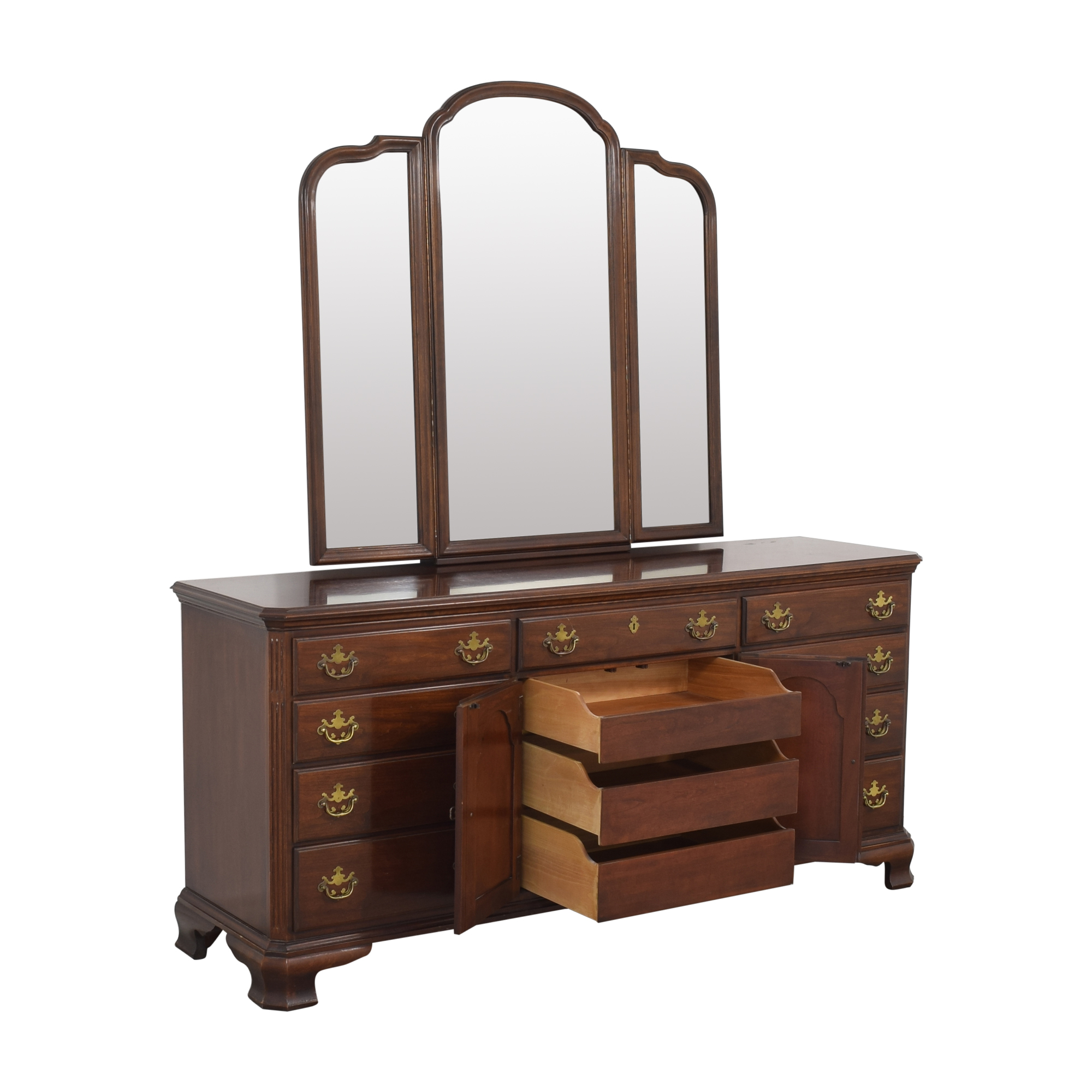 Drexel Drexel Triple Dresser with Trifold Mirror on sale