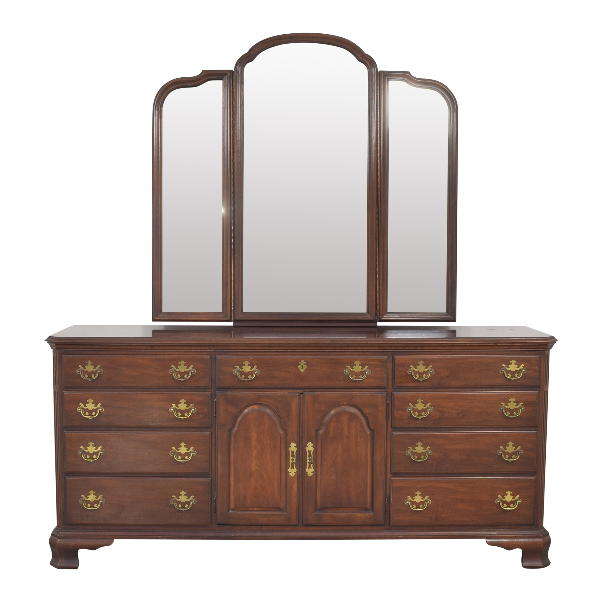 Drexel Drexel Triple Dresser with Trifold Mirror nyc
