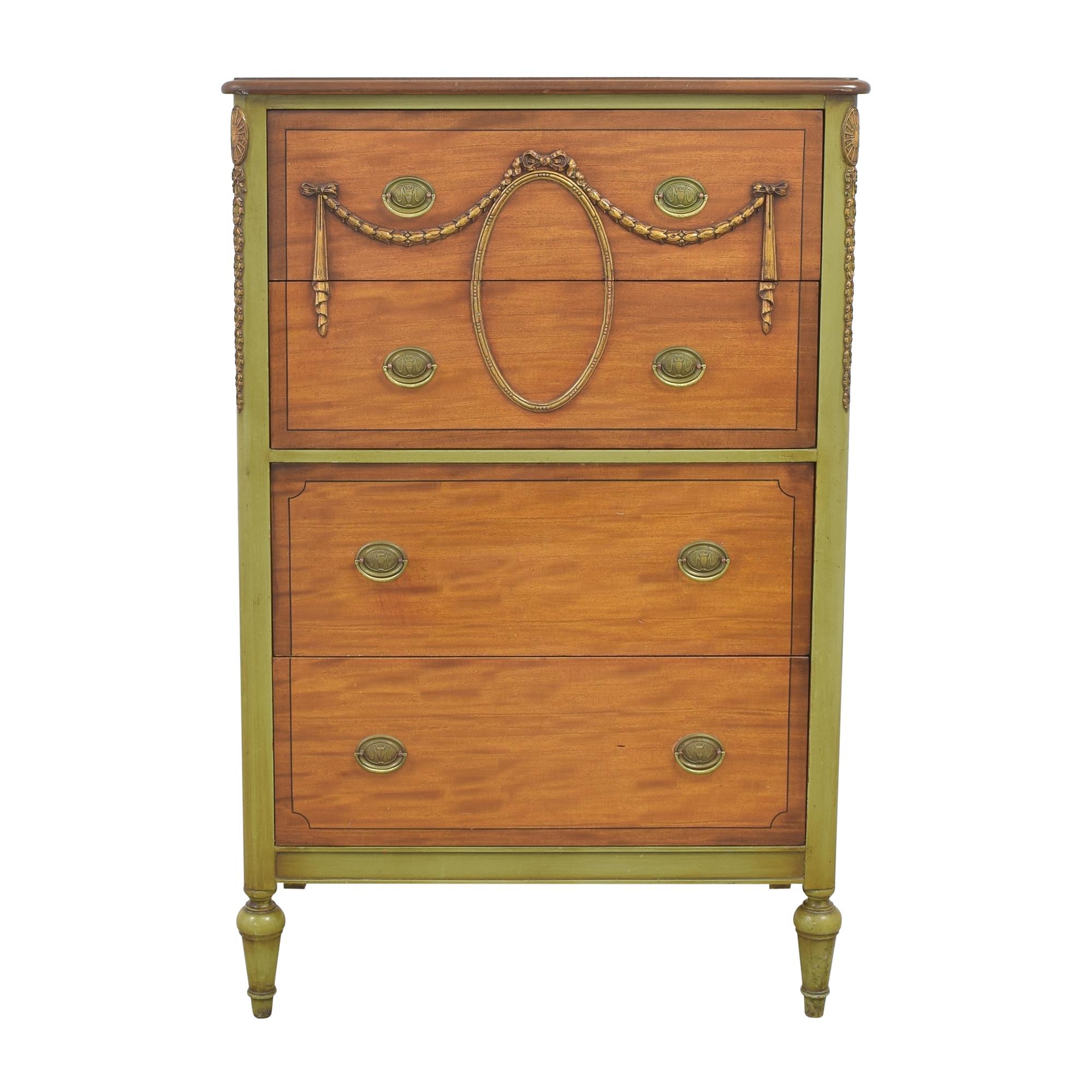 Berkey & Gay Vintage Four Drawer Dresser / Storage