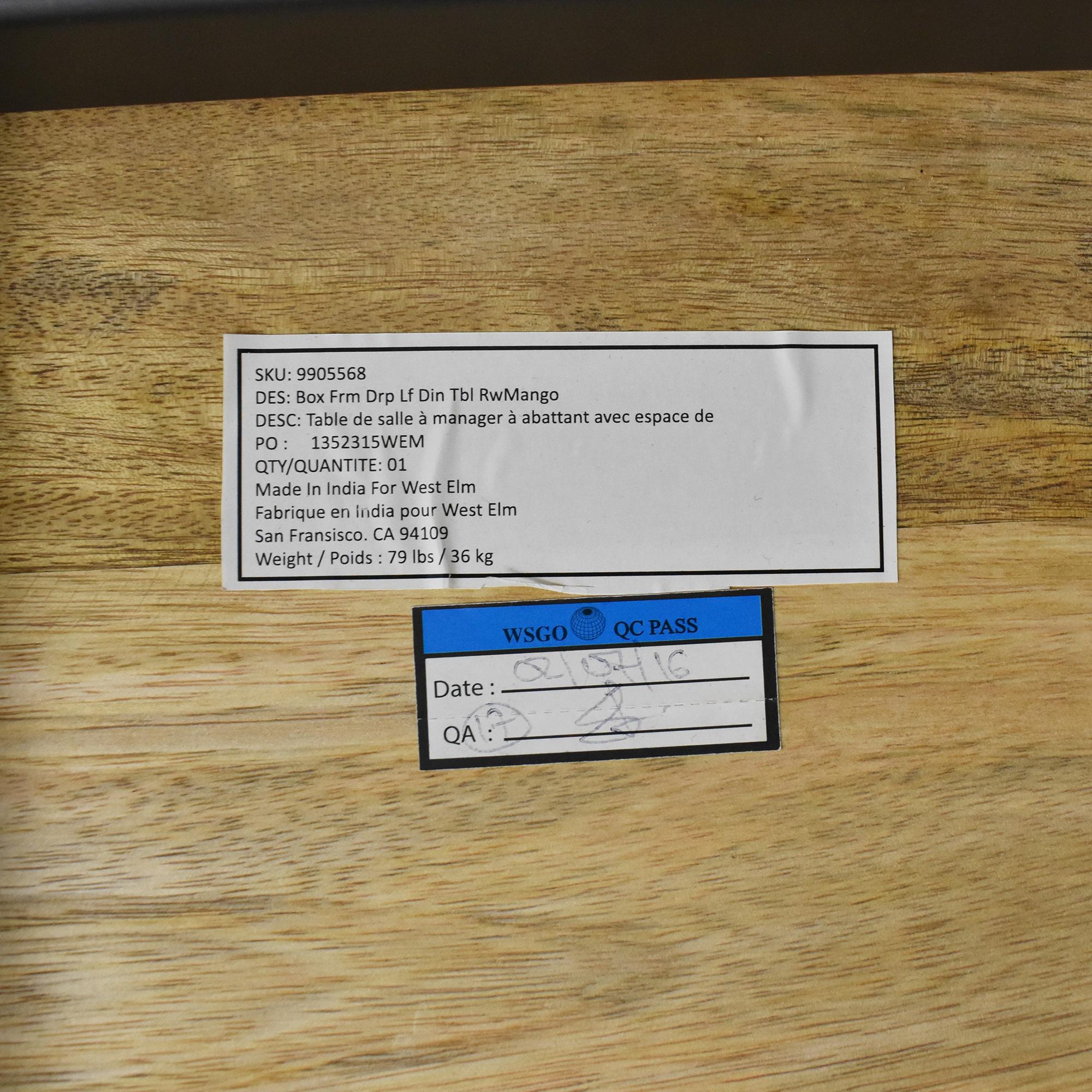 shop West Elm West Elm Box Frame Drop Leaf Expandable Table online