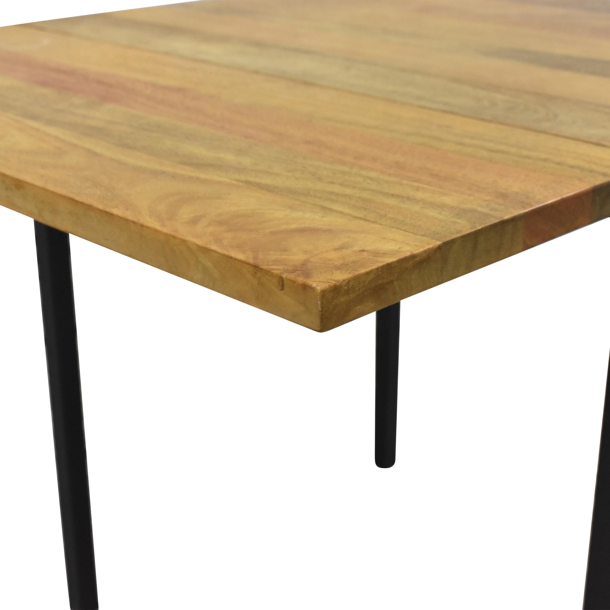 West Elm West Elm Box Frame Drop Leaf Expandable Table nj