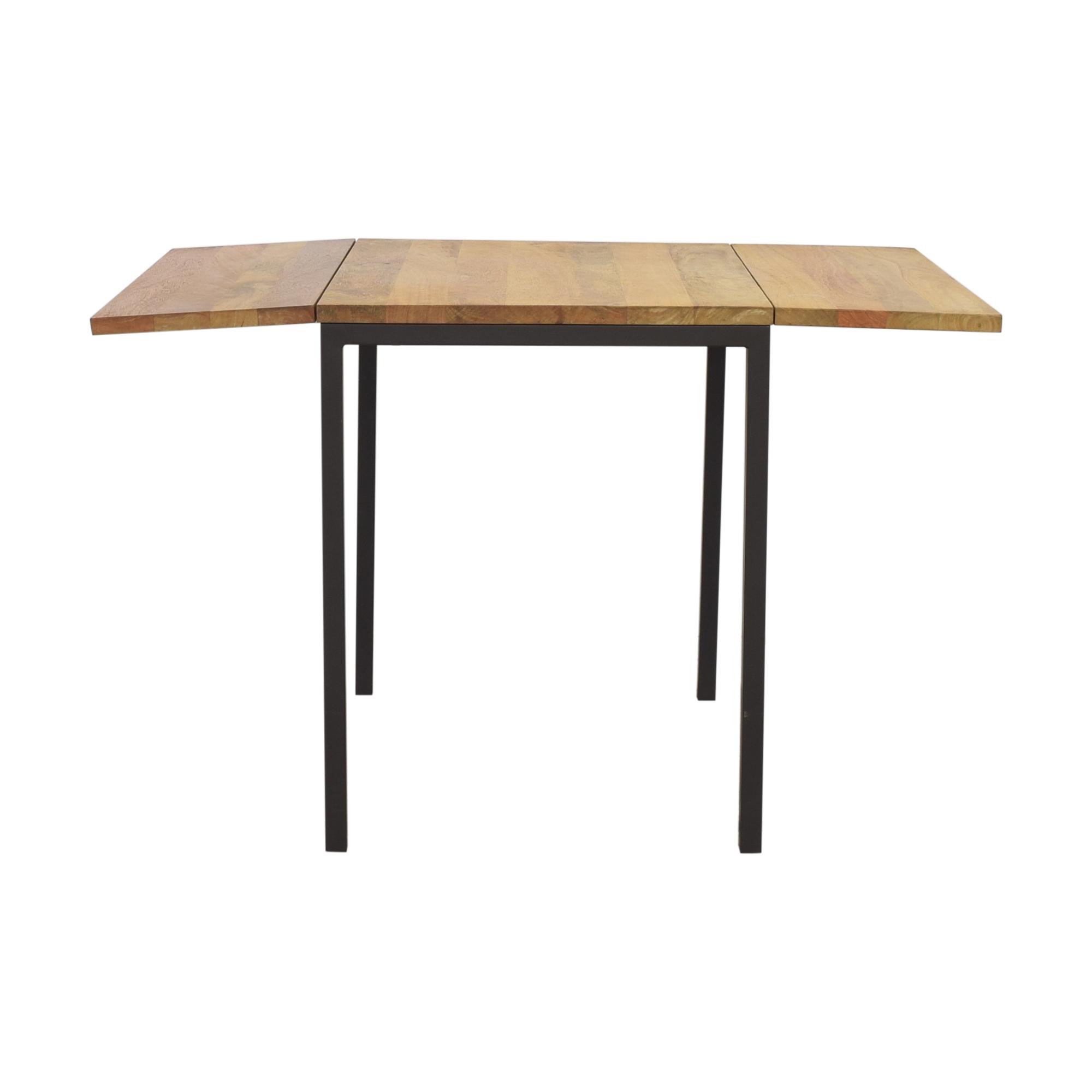 West Elm West Elm Box Frame Drop Leaf Expandable Table brown