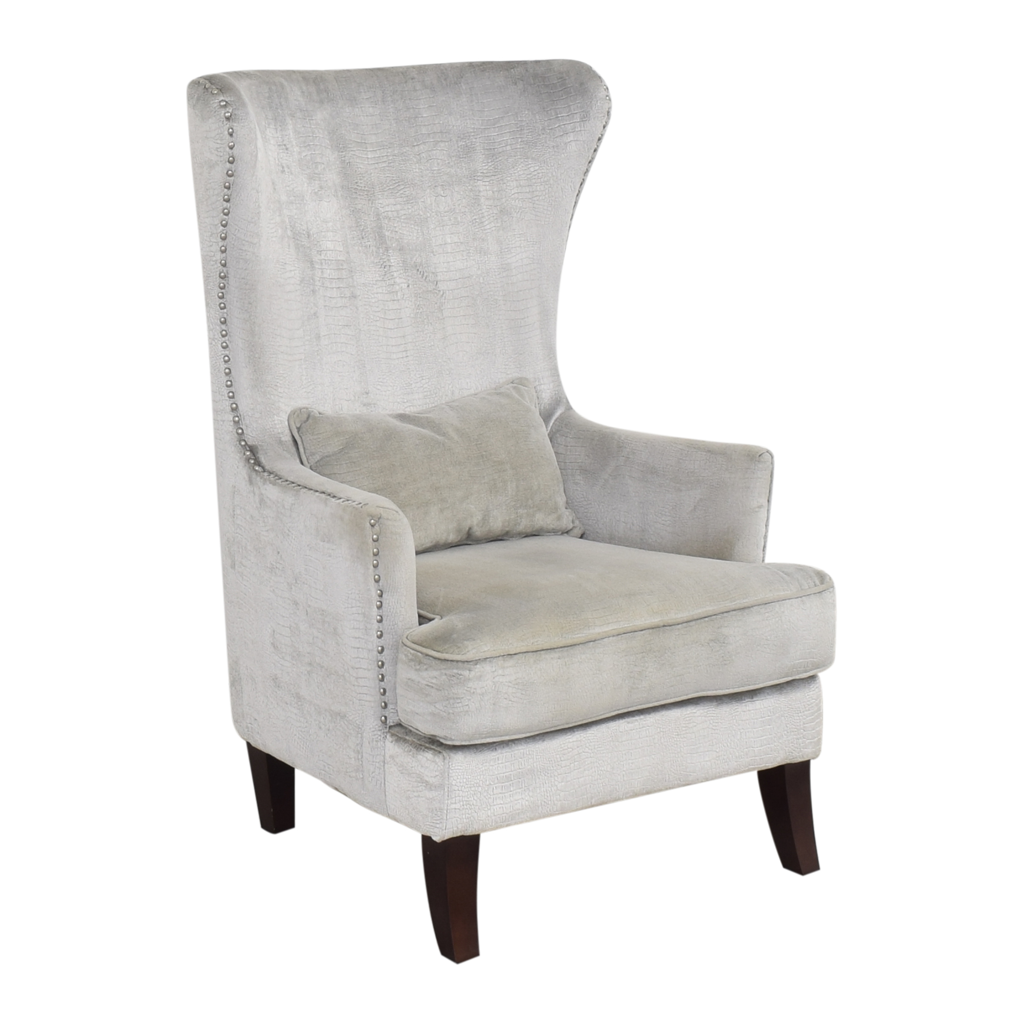 shop Lamps Plus Street Aston Wingback Chair Lamps Plus Chairs