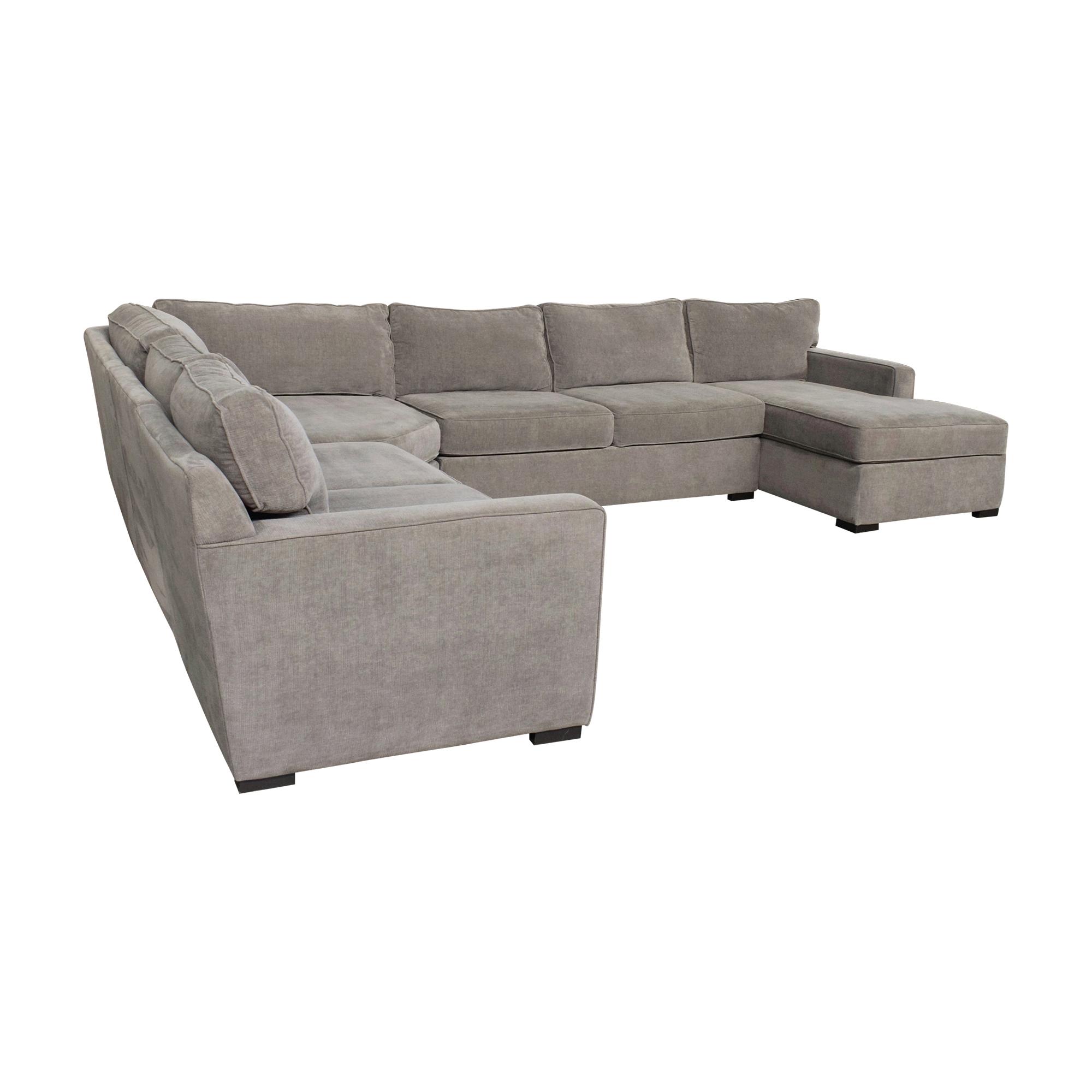 Macy's U-Shaped Chaise Sectional Sofa sale