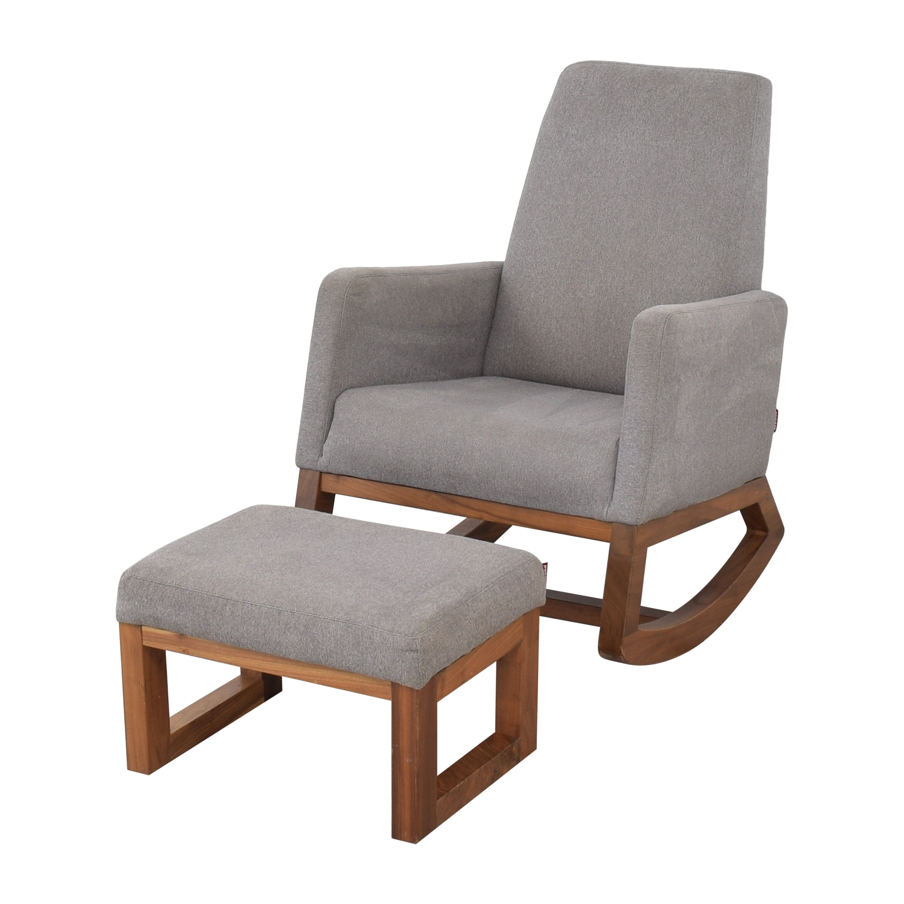 Crate & Barrel Crate & Barrel by Monte Modern Joya Rocking Chair and Ottoman