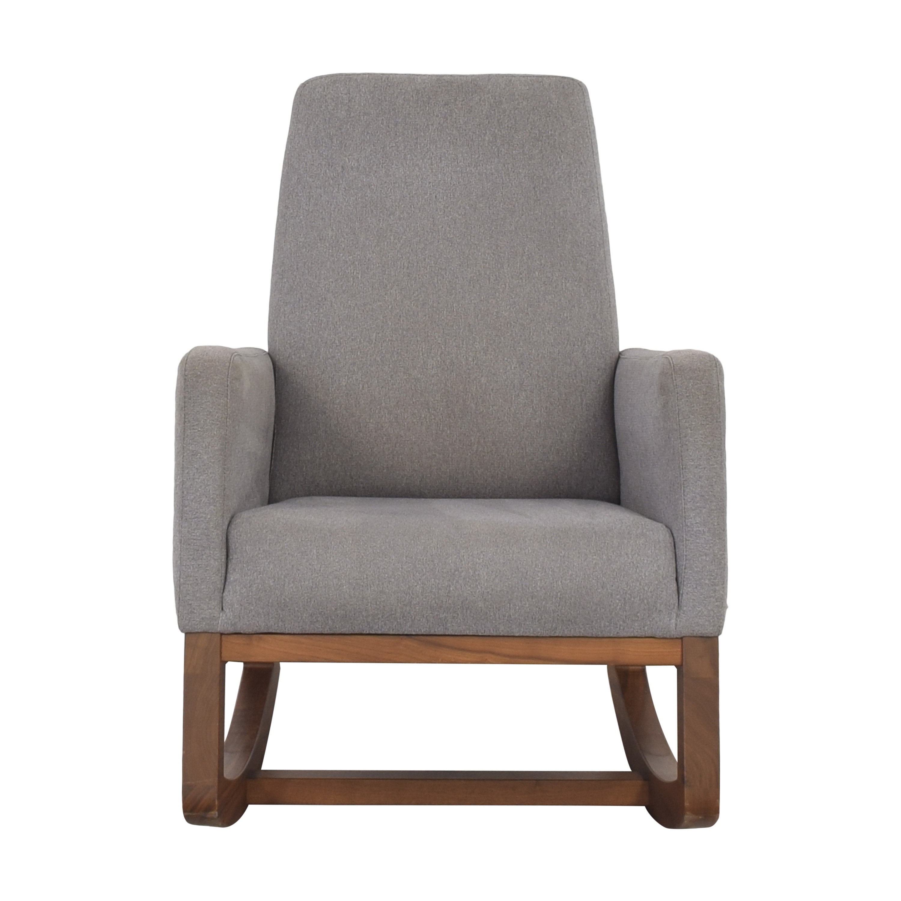 shop Crate & Barrel by Monte Modern Joya Rocking Chair and Ottoman Crate & Barrel Accent Chairs