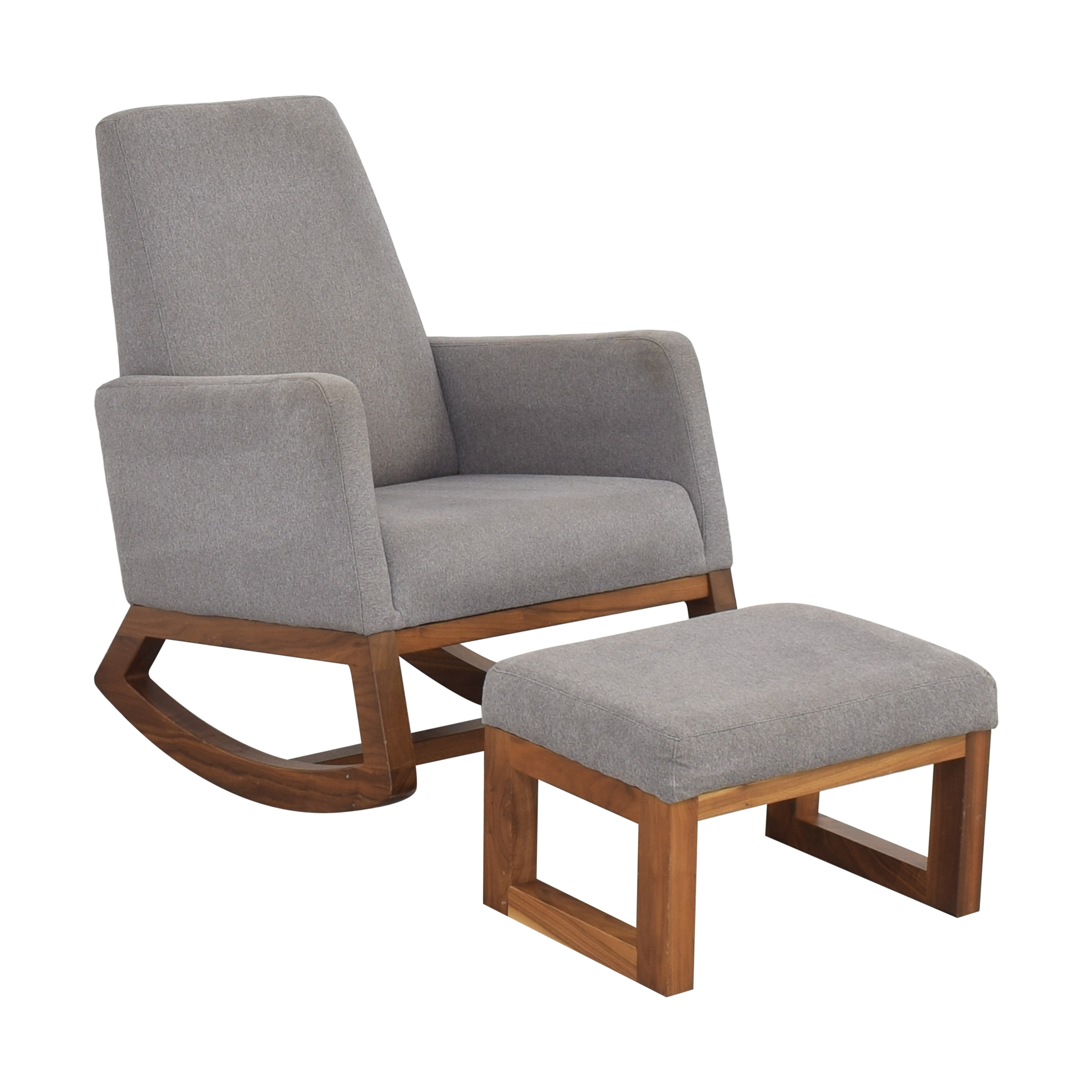 Crate & Barrel Crate & Barrel by Monte Modern Joya Rocking Chair and Ottoman ma