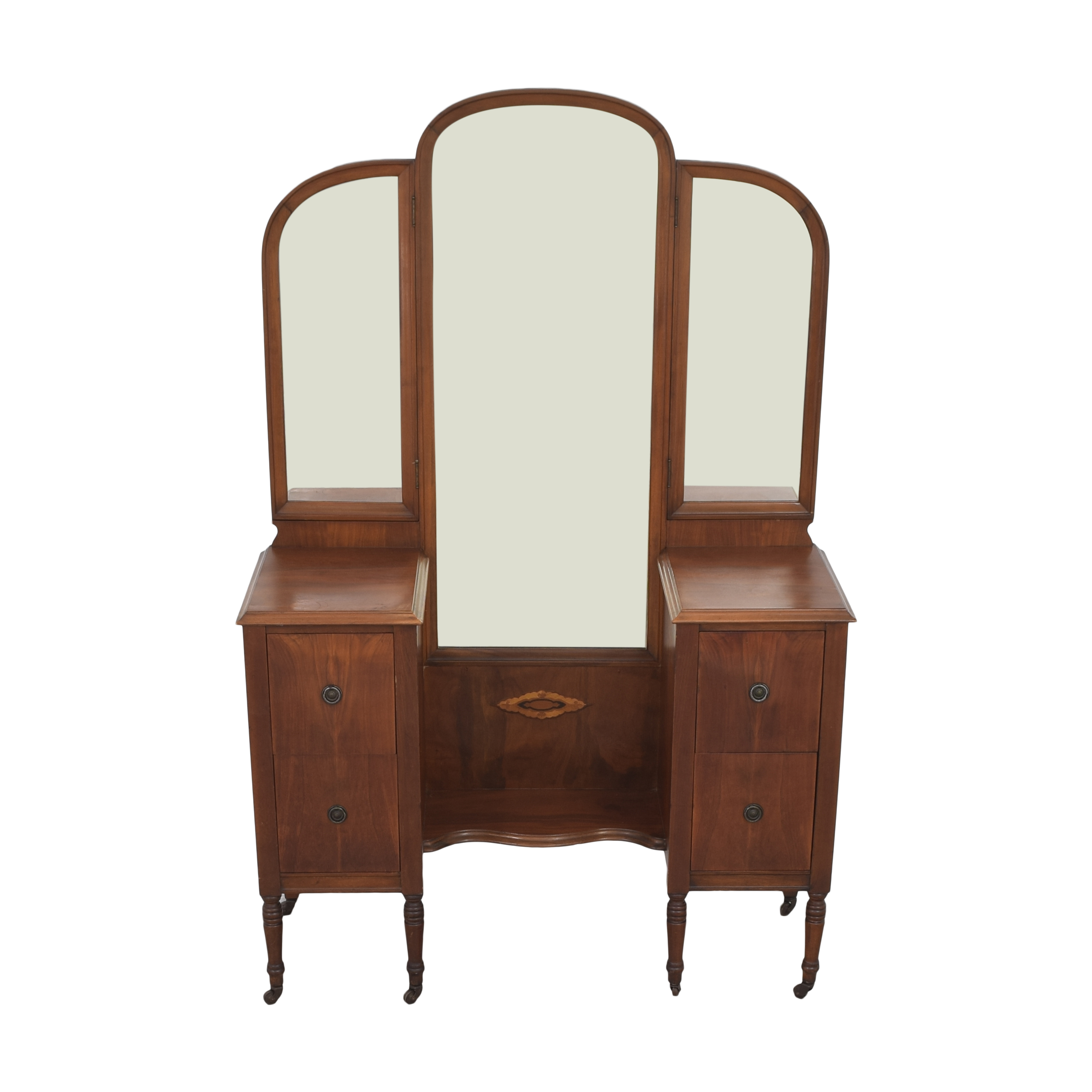 buy Star Furniture Vintage Vanity with Trifold Mirror Star Furniture Dressers