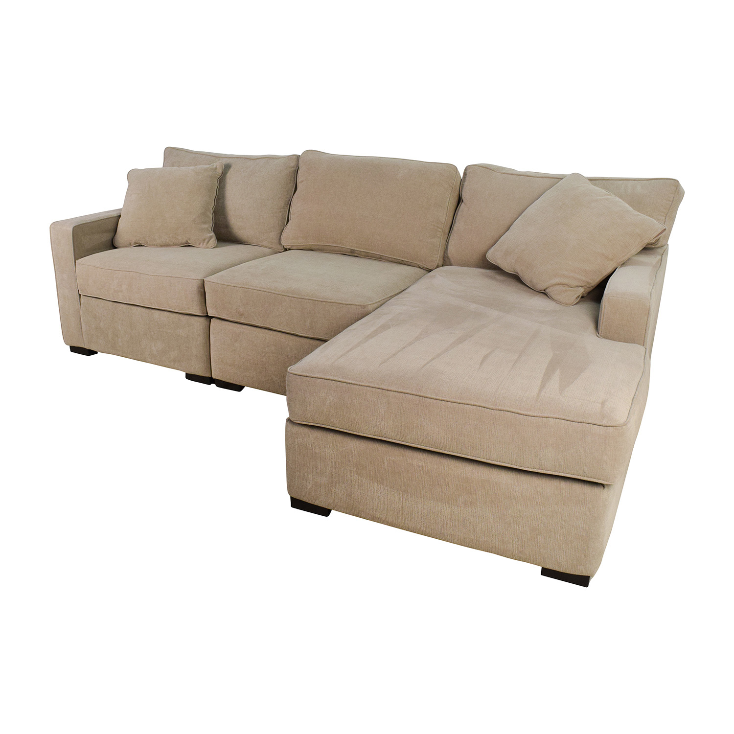 37 off macy 39 s radley 3 piece fabric chaise sectional for 3 piece sectional with chaise
