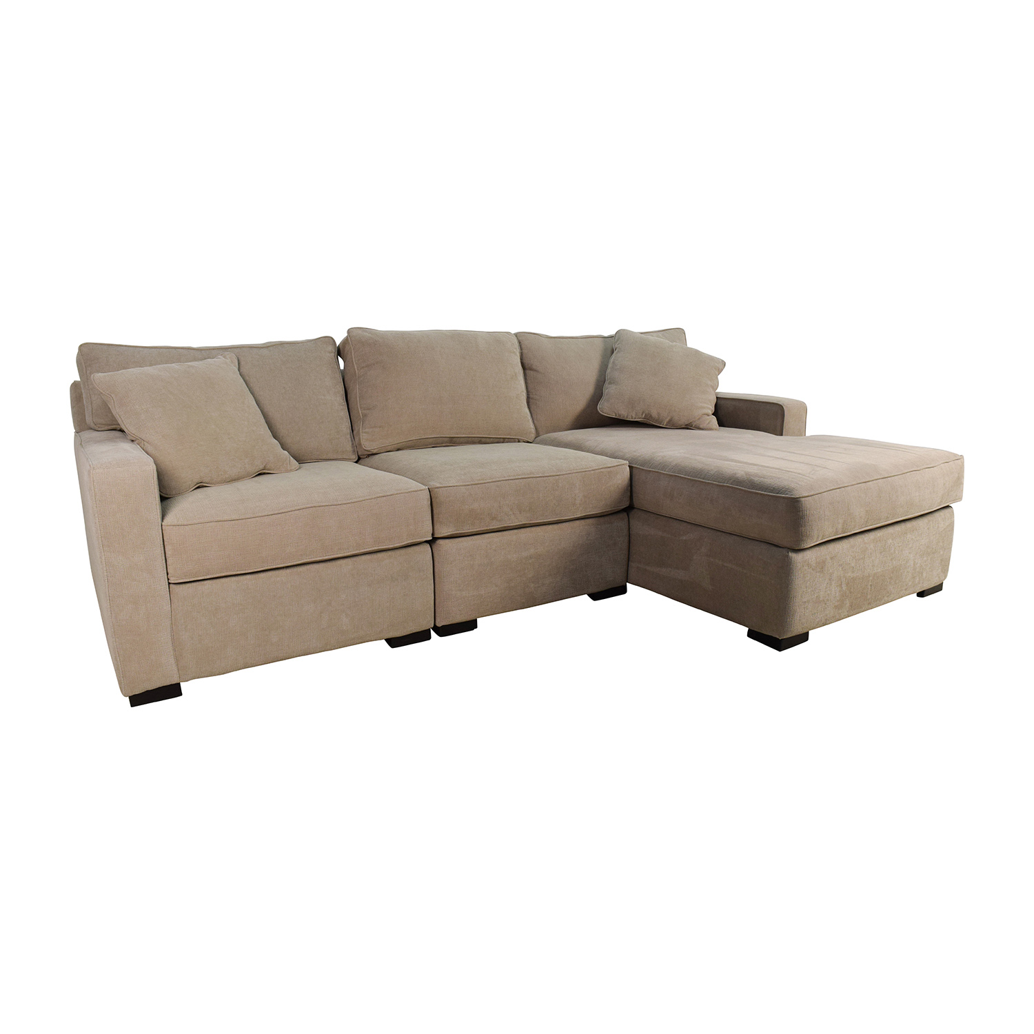 37% OFF Macy s Radley 3 Piece Fabric Chaise Sectional Sofa Sofas