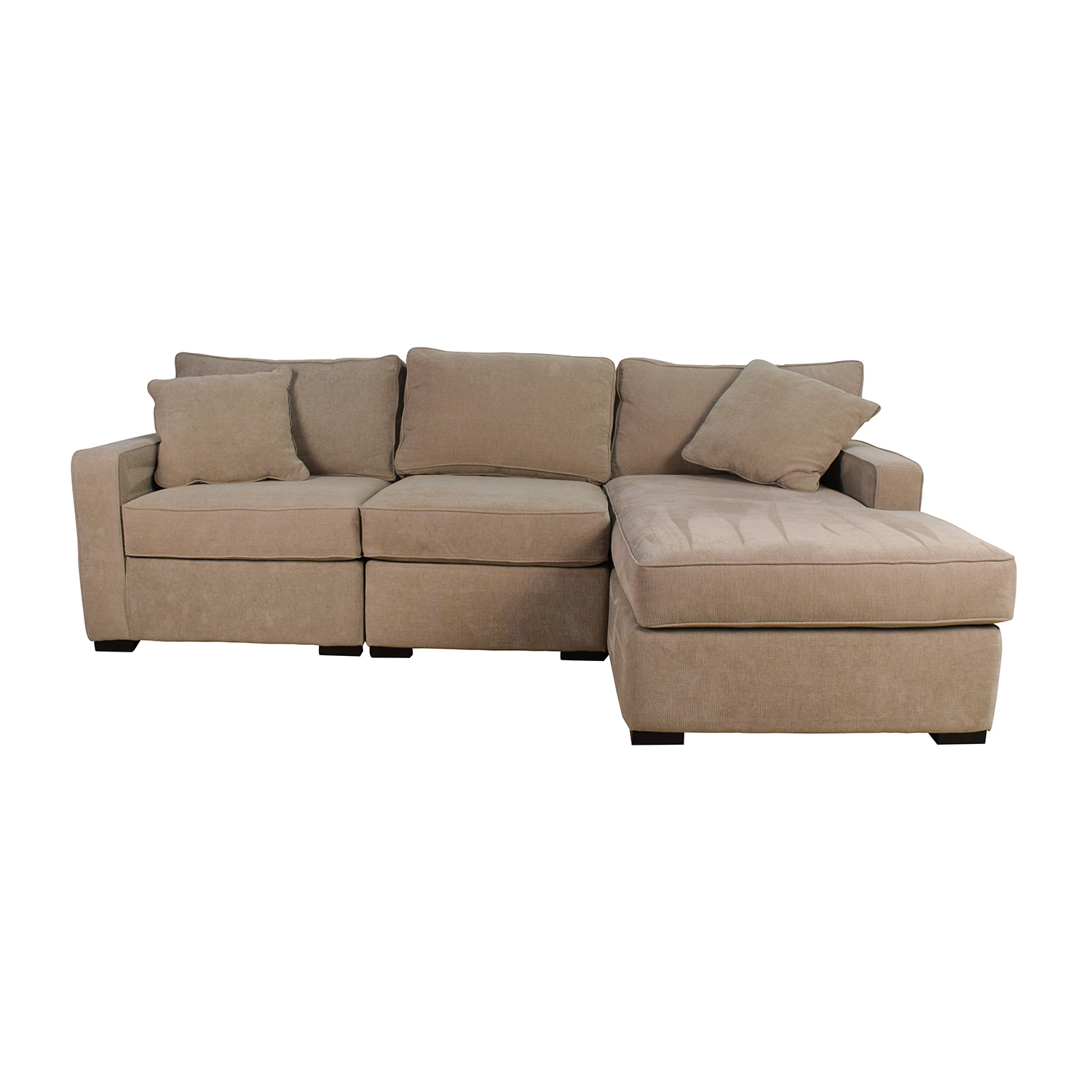 82% OFF White Leather Sectional Couch Sofas