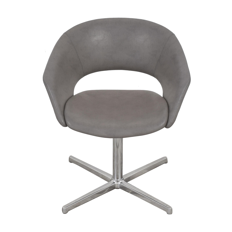 shop Leland Mod Pedestal Swivel Chair Leland International Accent Chairs