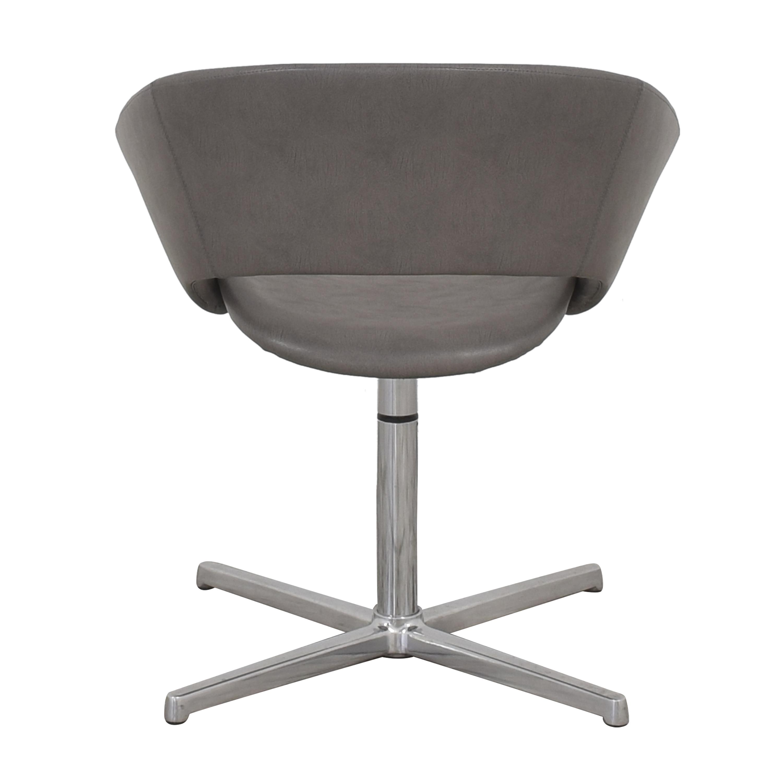 shop Leland Mod Pedestal Swivel Chair Leland International