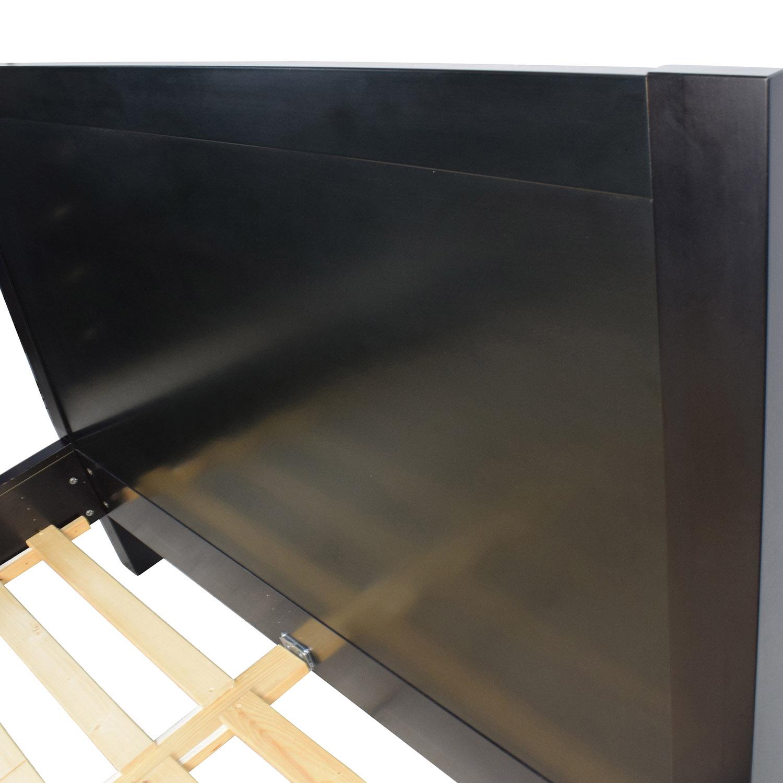 37 off boconcept boconcept black queen bed frame beds. Black Bedroom Furniture Sets. Home Design Ideas