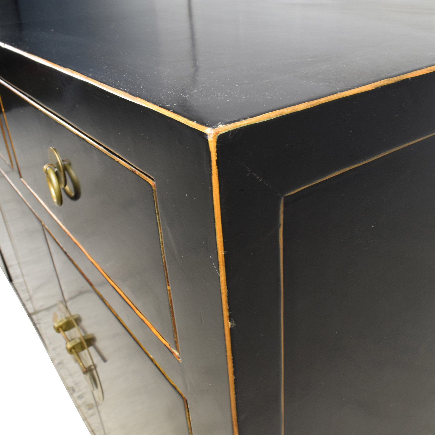 Custom Made Black Drawer and Cabinet Sideboard nyc