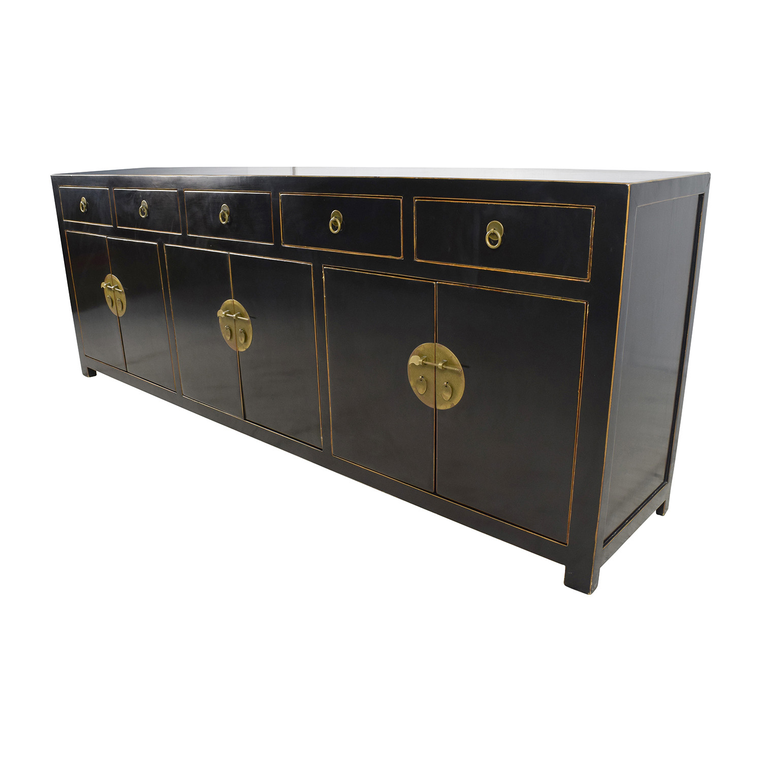 85 Off Custom Made Black Drawer And Cabinet Sideboard Storage