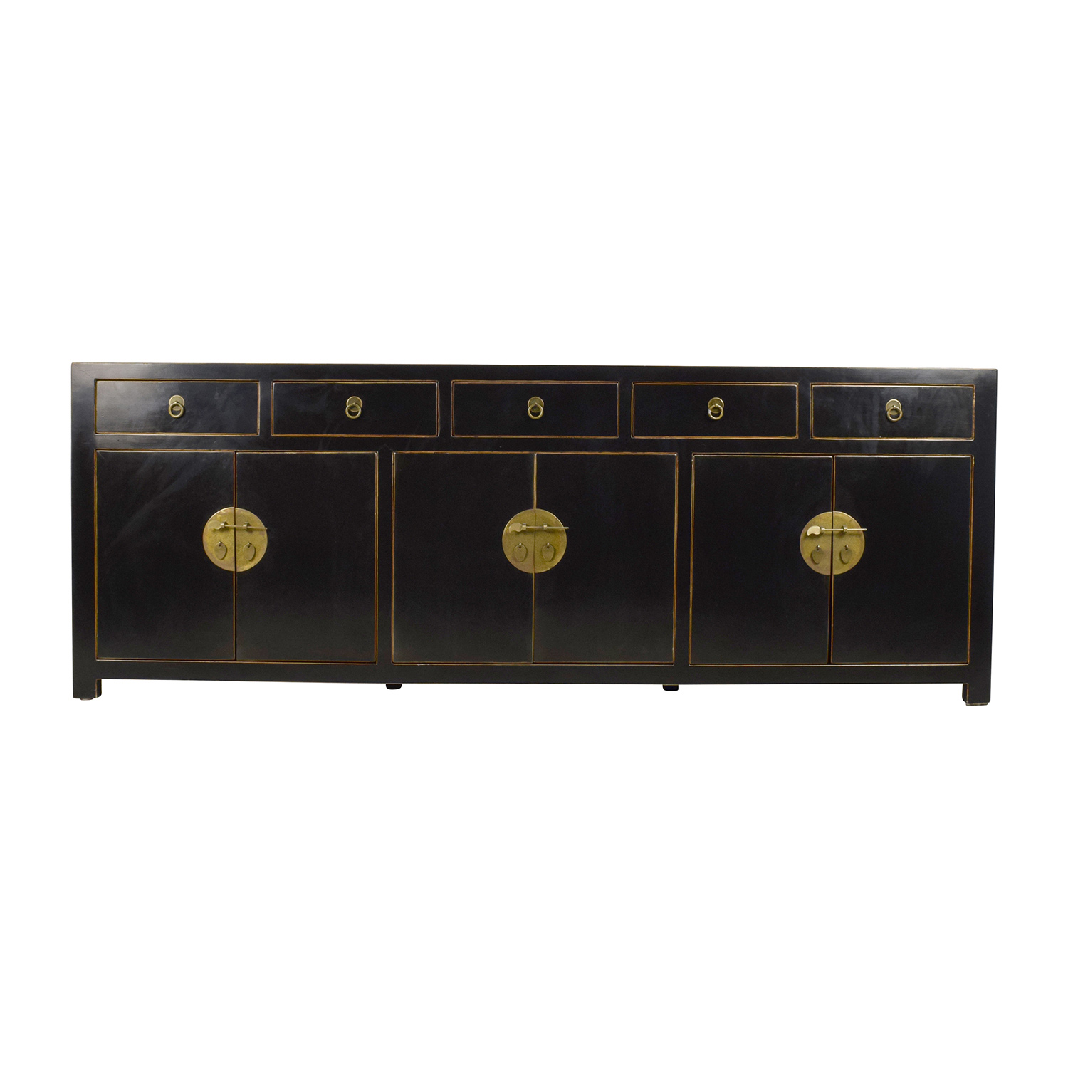 Custom Made Black Drawer and Cabinet Sideboard