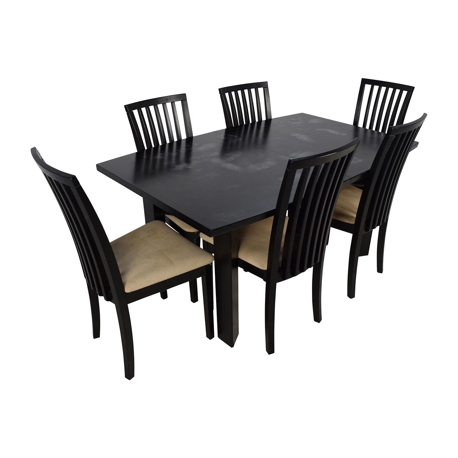 buy Skovby SM 24 Dining Table with Butterfly Extensions and Six Chairs Skovby Dining Sets