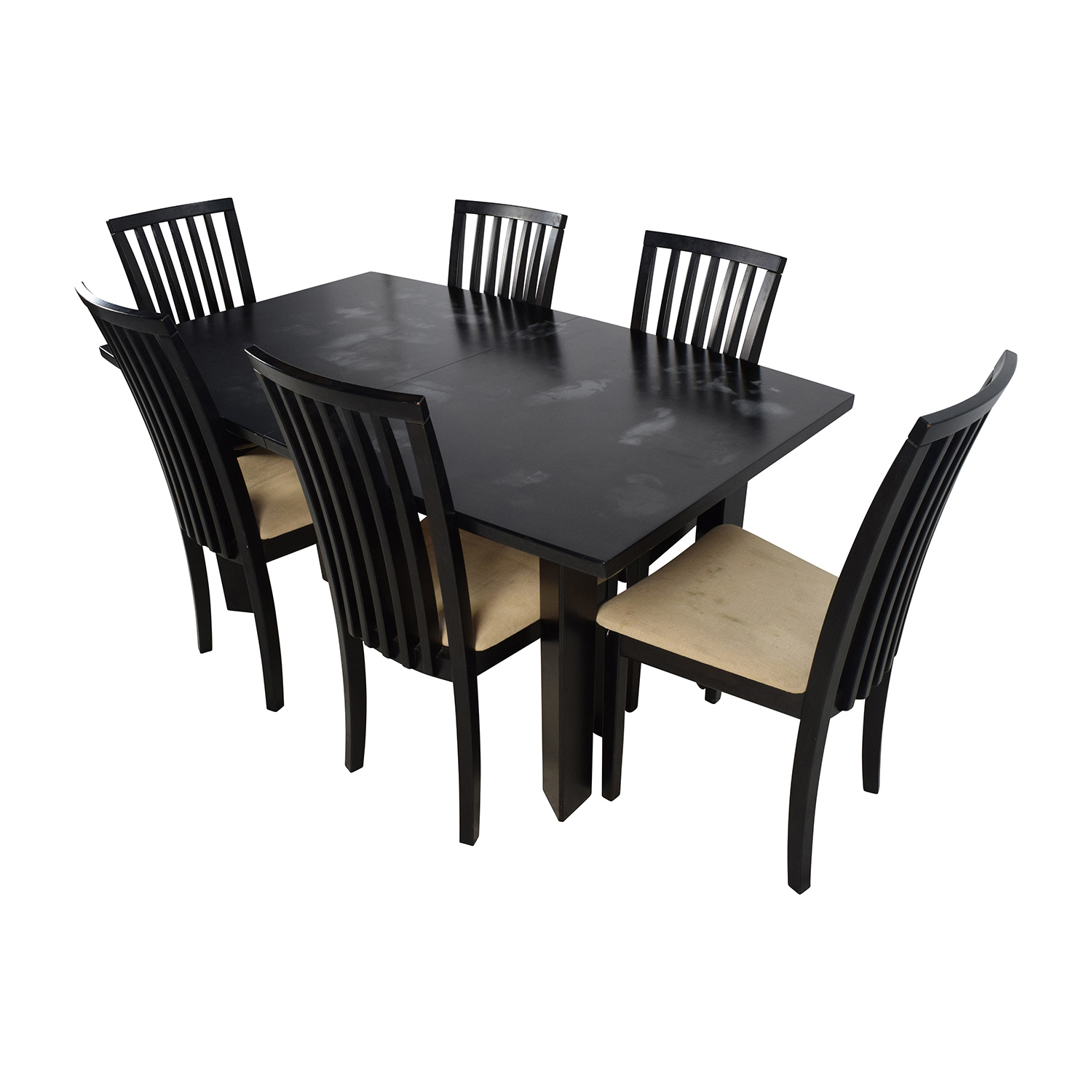 Skovby SM 24 Dining Table with Butterfly Extensions and Six Chairs sale
