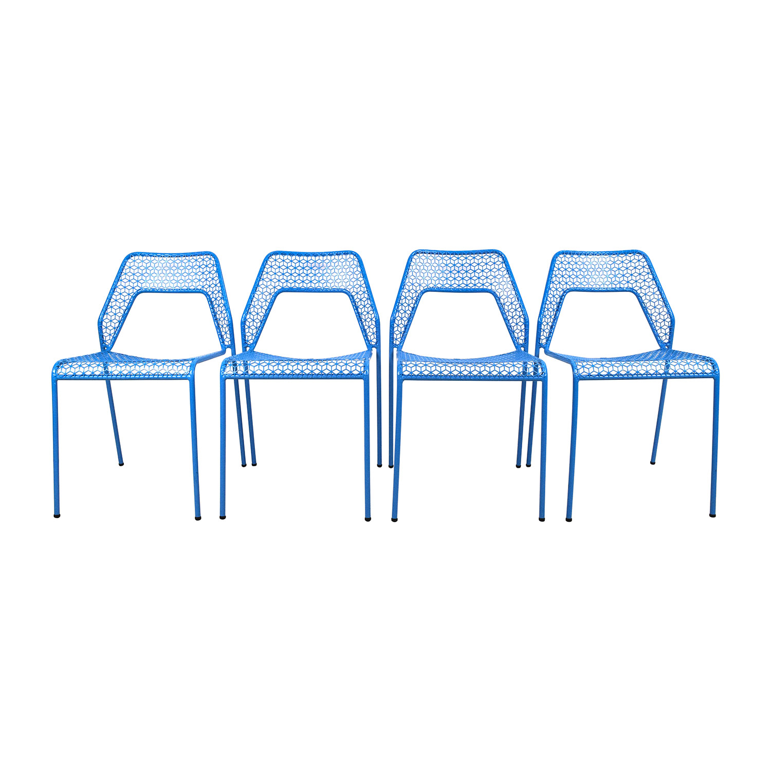 Shop Blu Dot Hot Mess Chipper Blue Steel Mesh Chairs Blu Dot Chairs ...