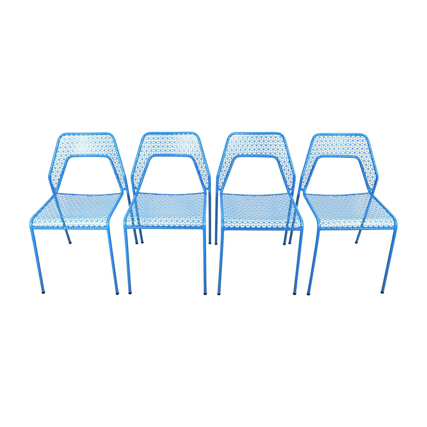 Blu Dot Hot Mess Chipper Blue Steel Mesh Chairs / Chairs