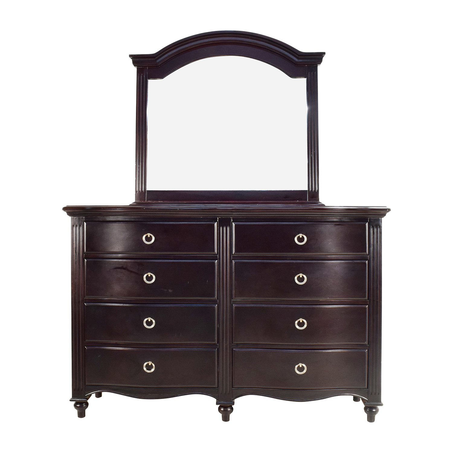 Mahogany 10-Drawer Dresser / Storage
