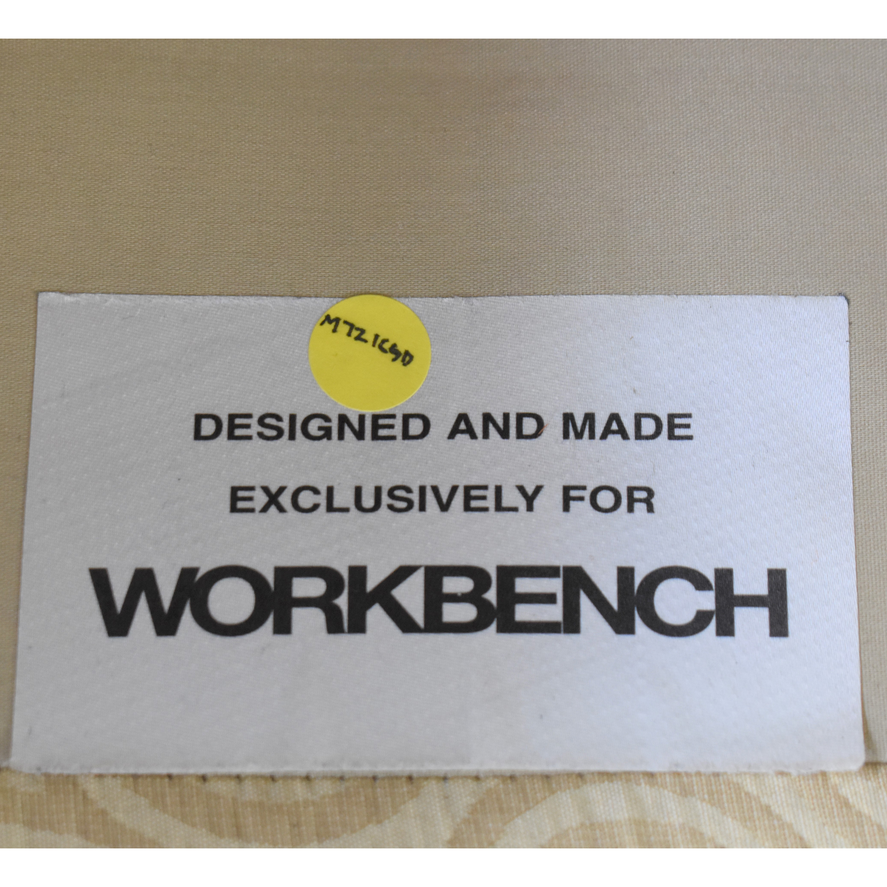 Workbench Workbench Armchair and Ottoman dimensions