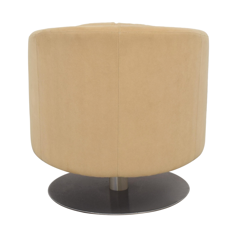 Natuzzi Natuzzi Liu Swivel Armchair Accent Chairs