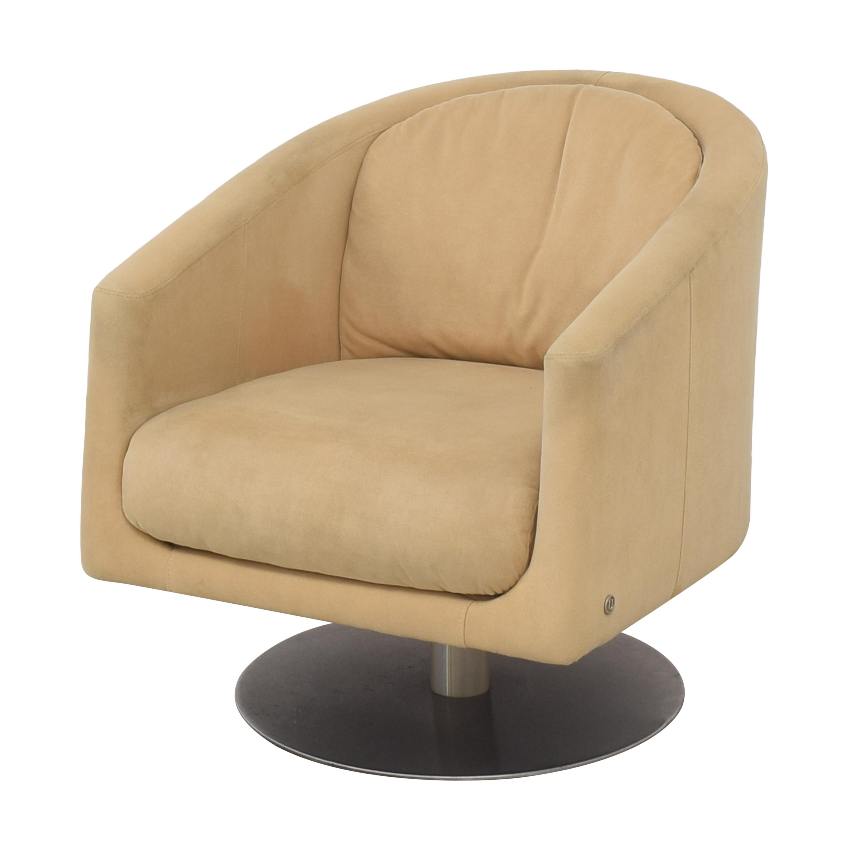 buy Natuzzi Liu Swivel Armchair Natuzzi Chairs