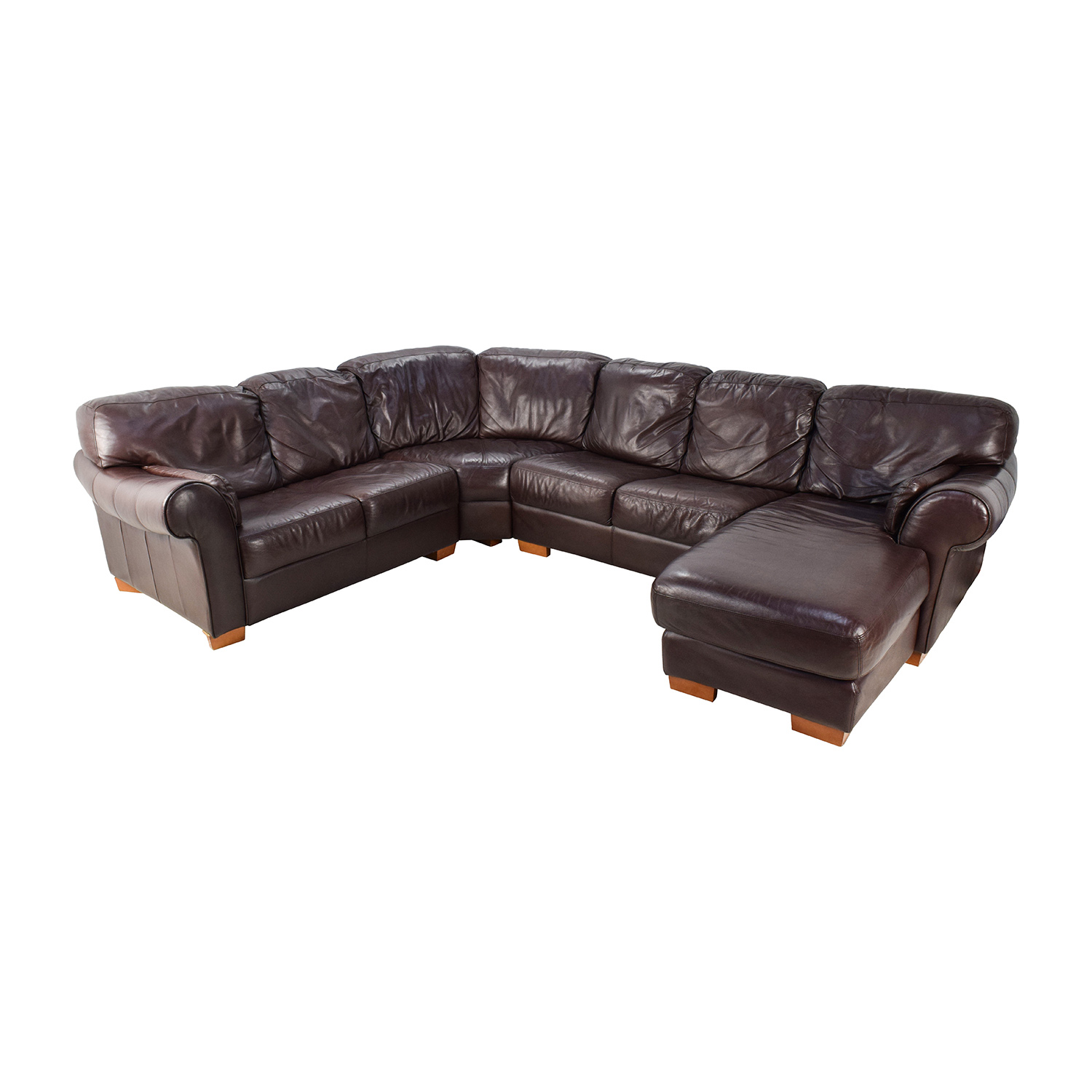 63% OFF - Raymour & Flanigan Raymour & Flanigan 4-Piece Leather Sectional /  Sofas