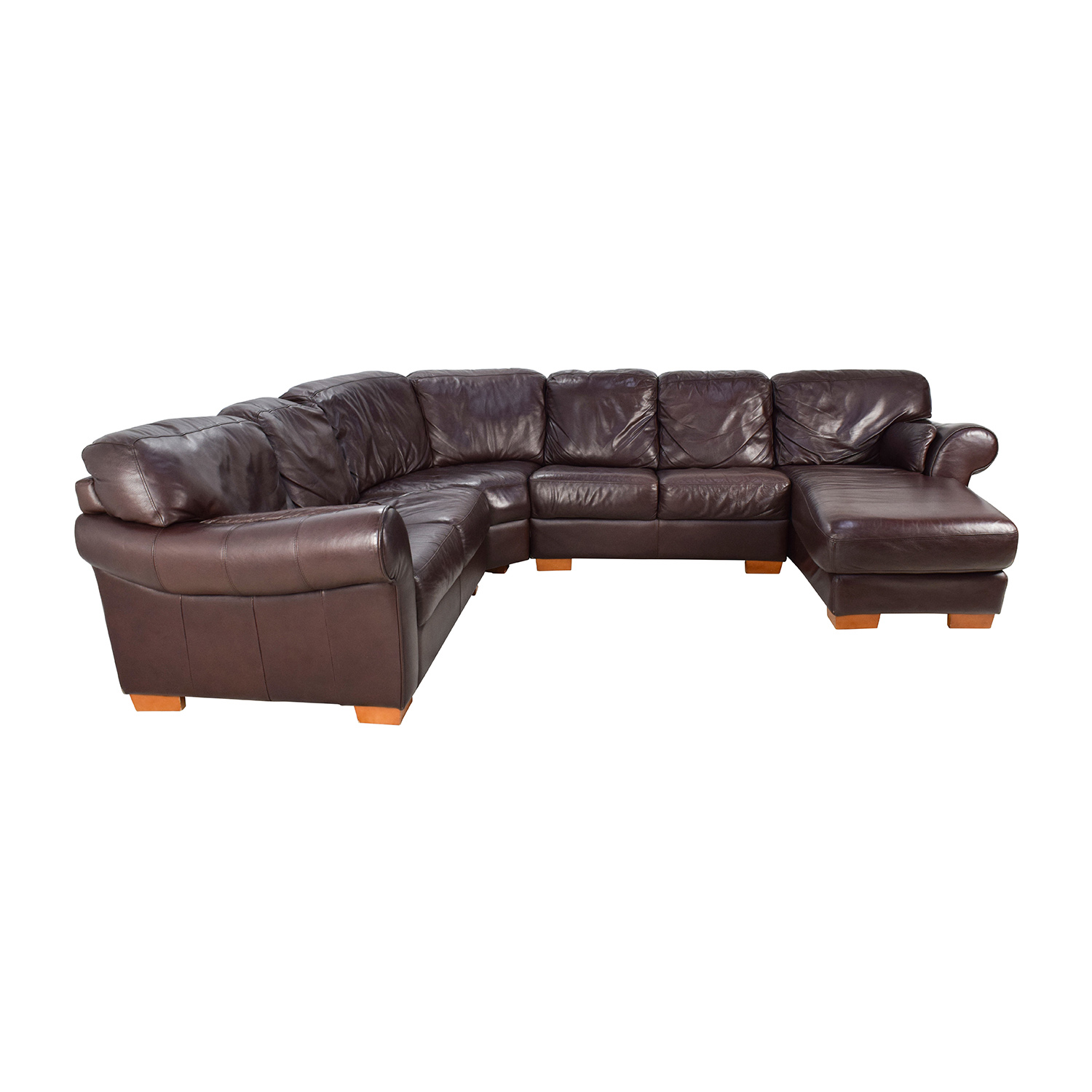 ... Raymour u0026 Flanigan Raymour u0026 Flanigan 4-Piece Leather Sectional ...  sc 1 st  Furnishare : raymour flanigan sectional - Sectionals, Sofas & Couches