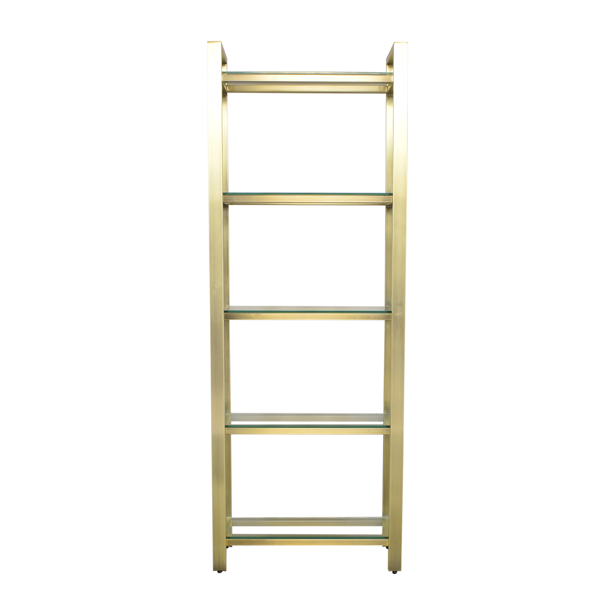 shop Crate & Barrel Pilsen Brass Bookcase Crate & Barrel Storage