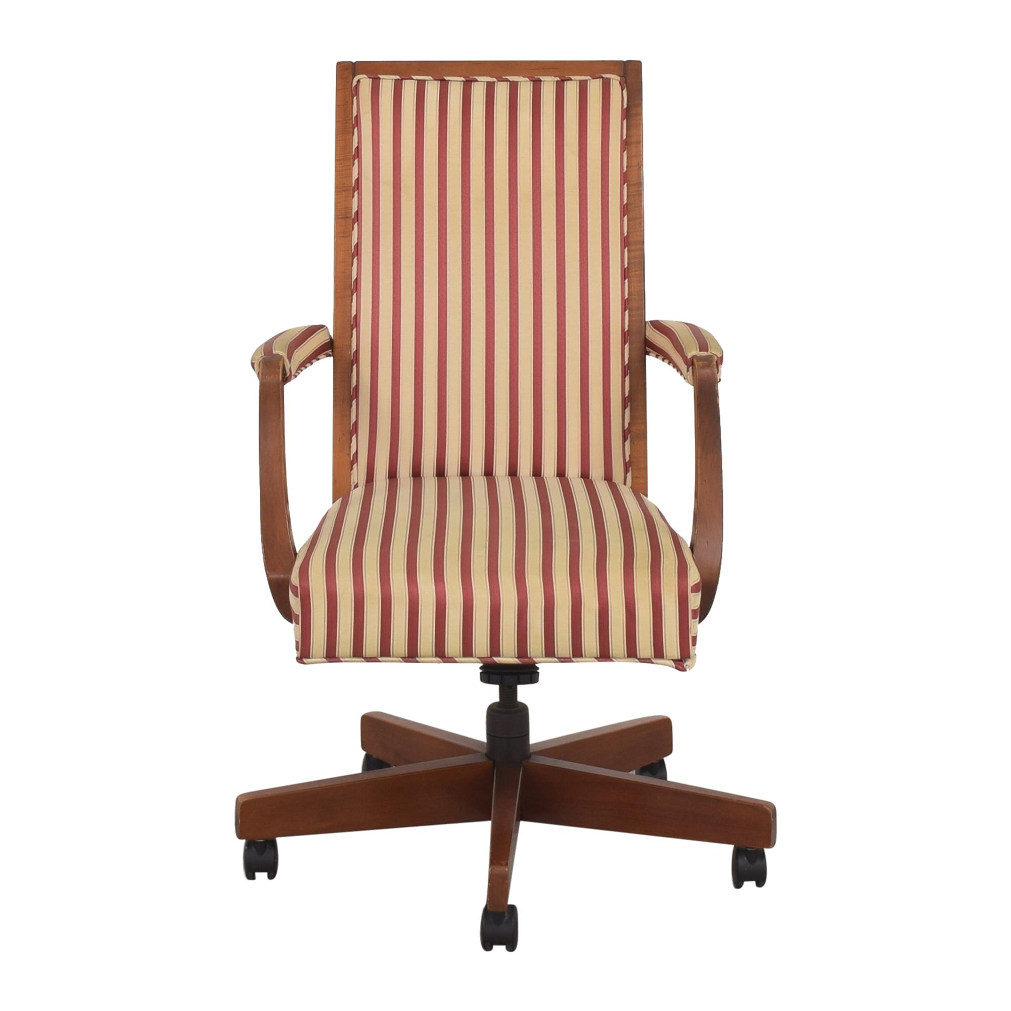 Ethan Allen Ethan Allen Stripe Upholstered Desk Chair second hand