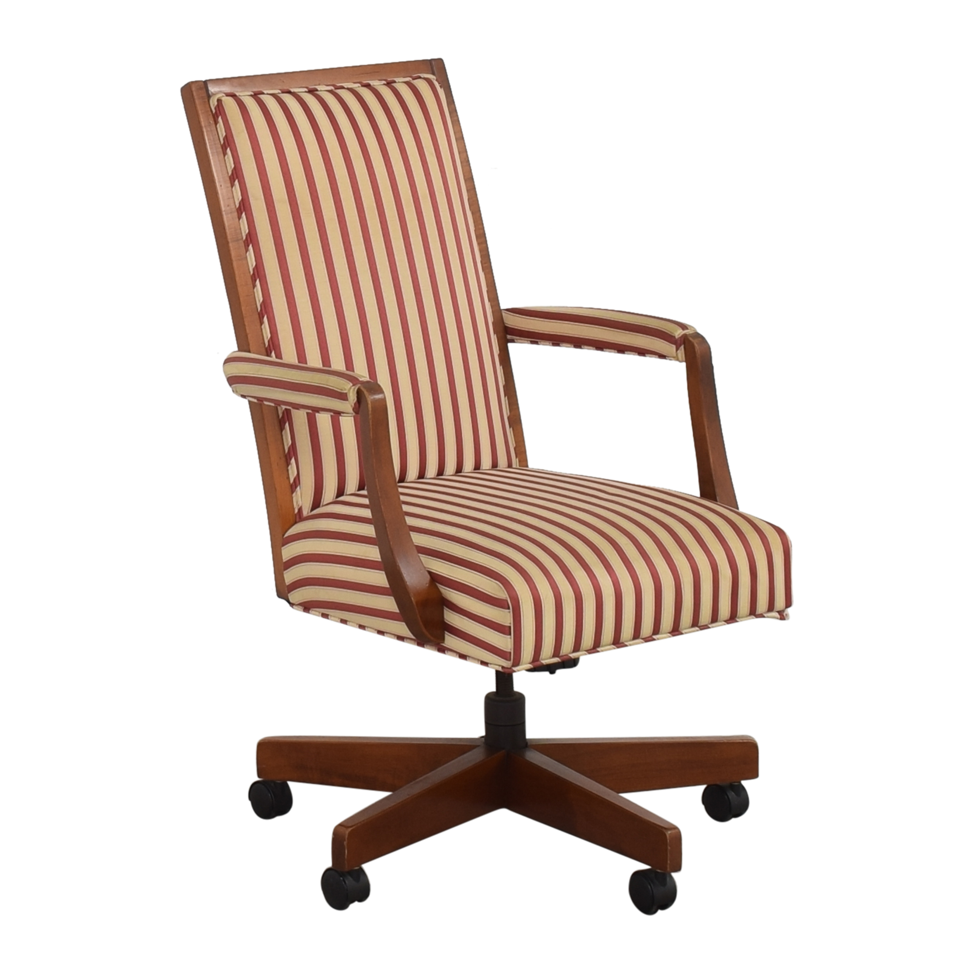 Image of: 74 Off Ethan Allen Ethan Allen Stripe Upholstered Desk Chair Chairs