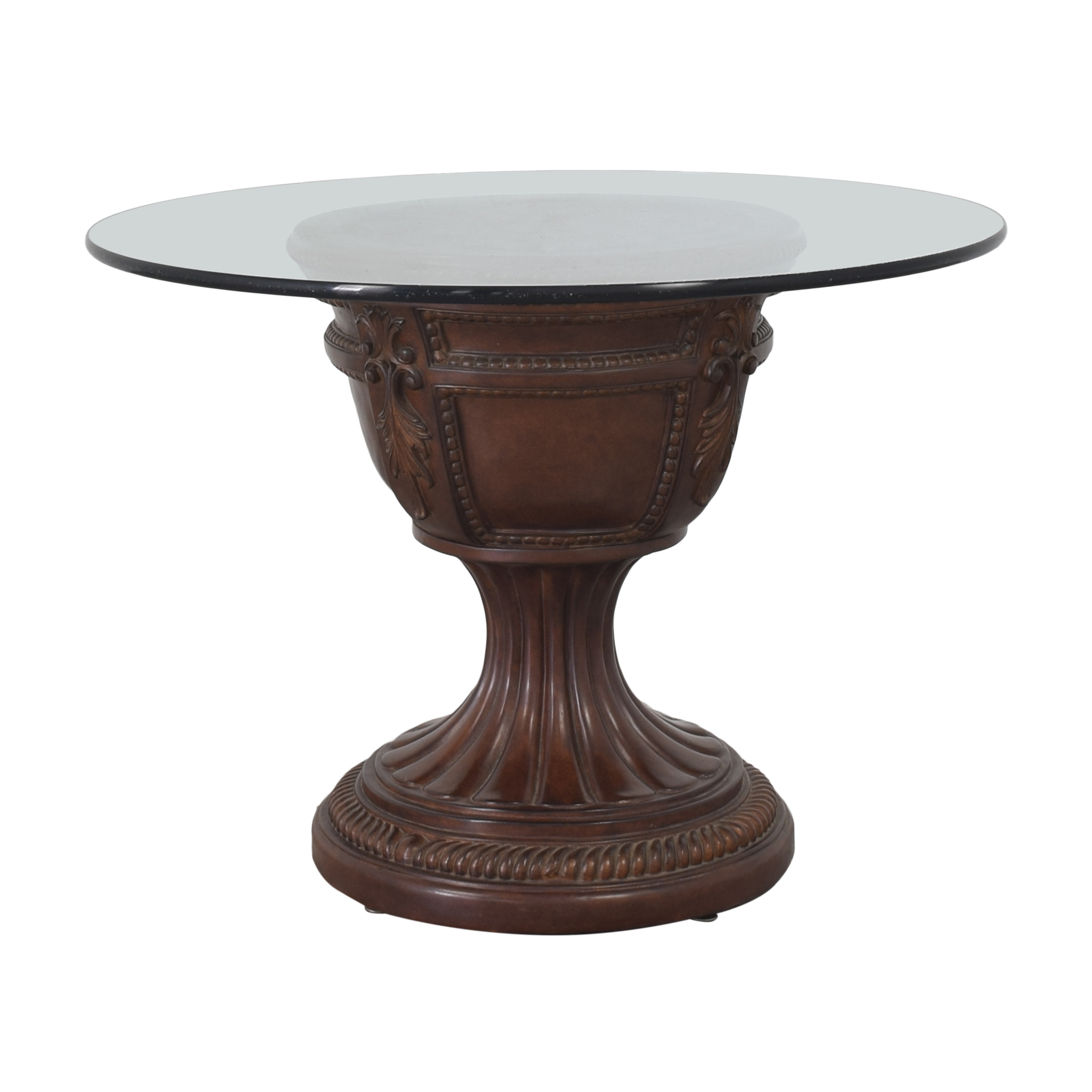 Round Dining Table with Transparent Surface for sale
