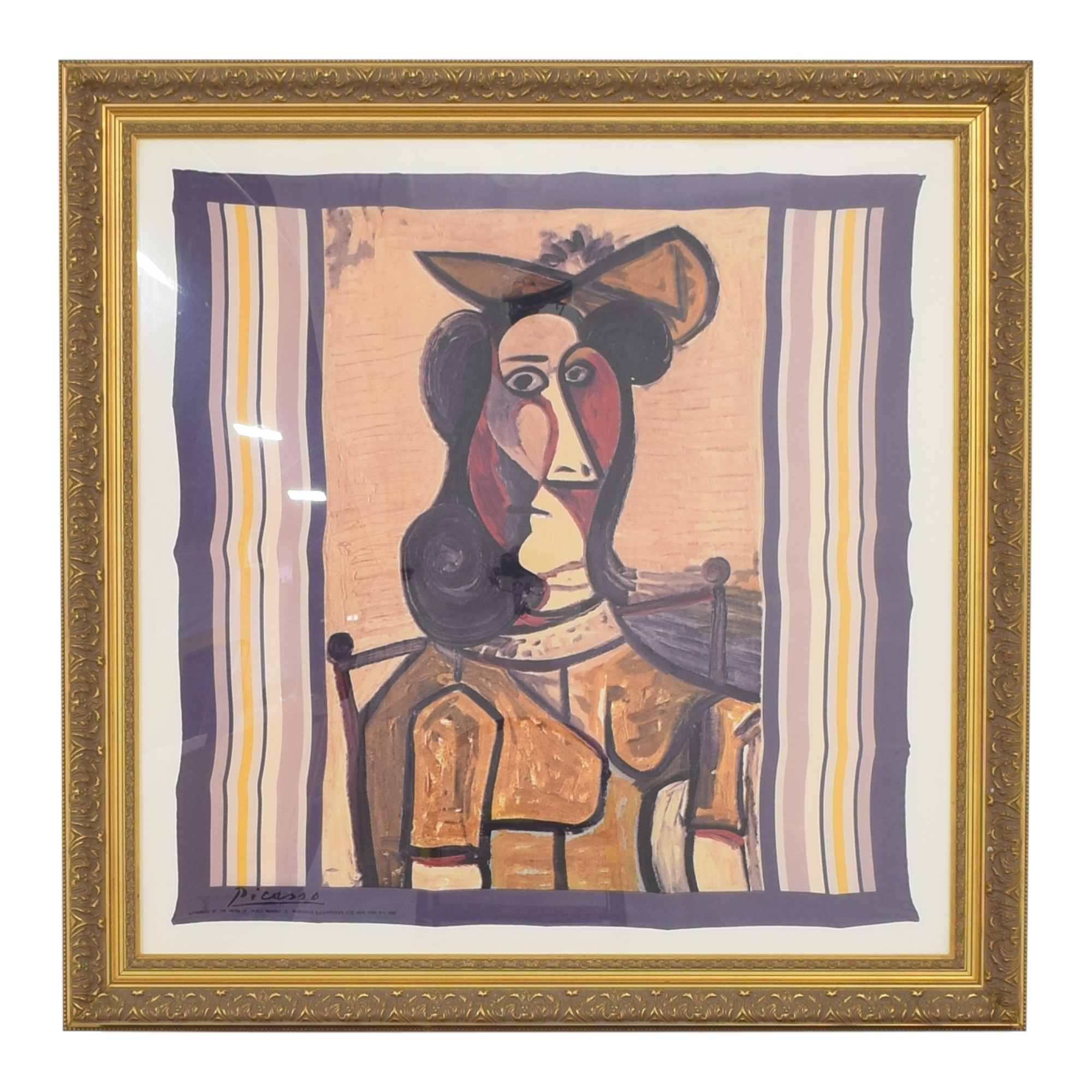 Framed Picasso Print Wall Art second hand