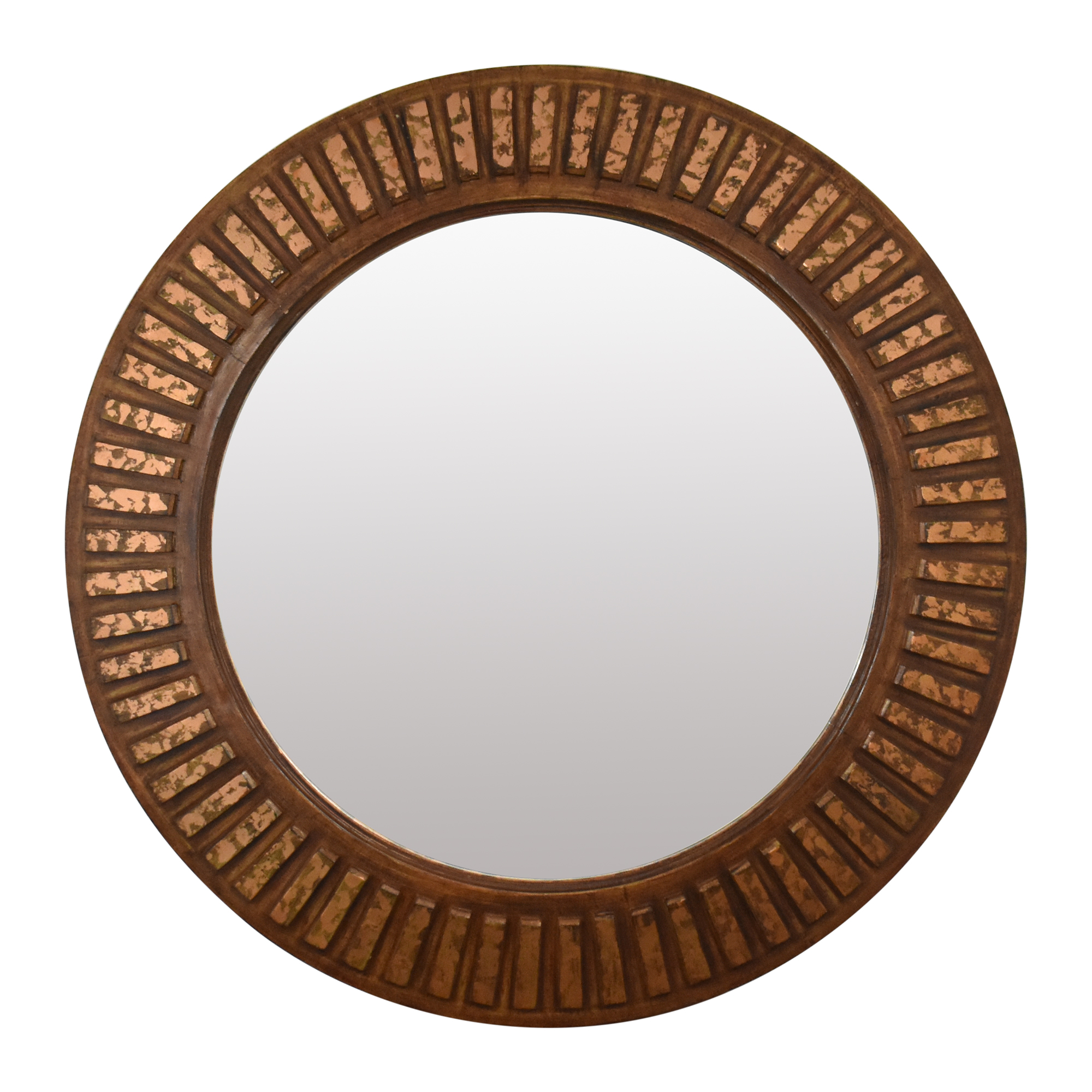 Exotic Furniture Exotic Furniture Round Wall Mirror brown