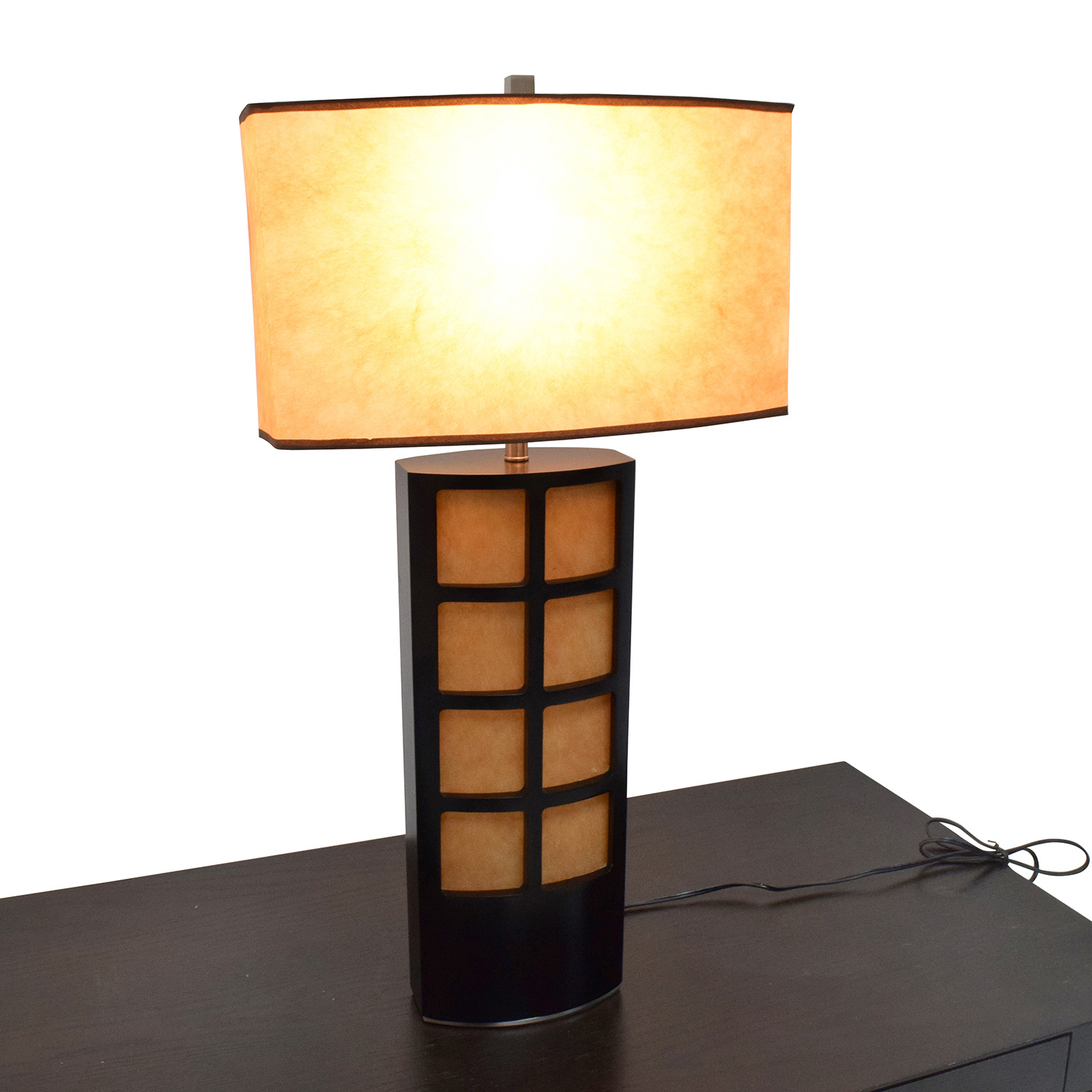table lamp in brown