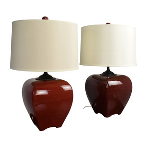 shop Currey China Rutherford Burgundy Ceramic Table Lamps Currey China