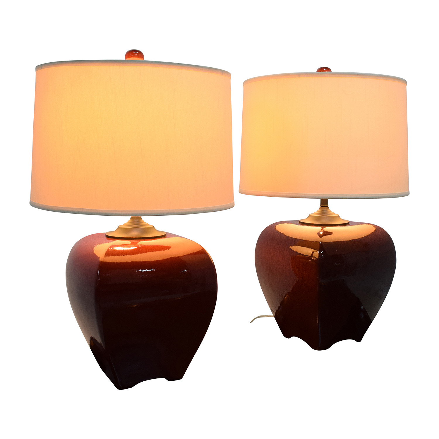 Currey China Currey China Rutherford Burgundy Ceramic Table Lamps coupon