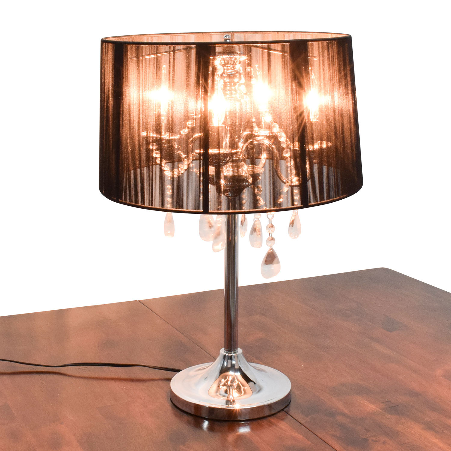 Destination Lightening Lamps with Crystals and Chrome Base sale