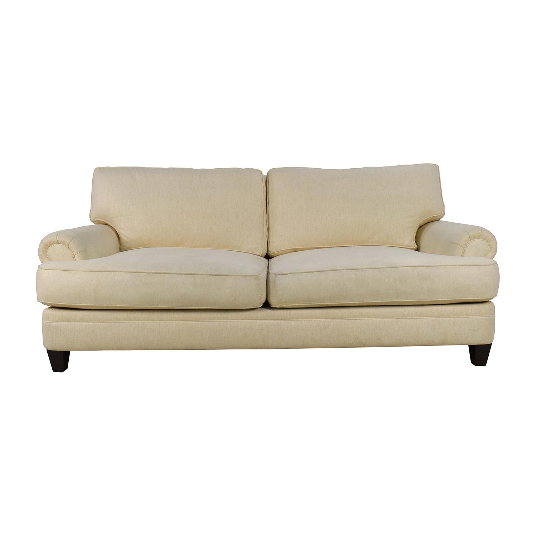 83% OFF - Henredon Furniture Henredon Fireside Short Beige 3-Seater Sofa /  Sofas