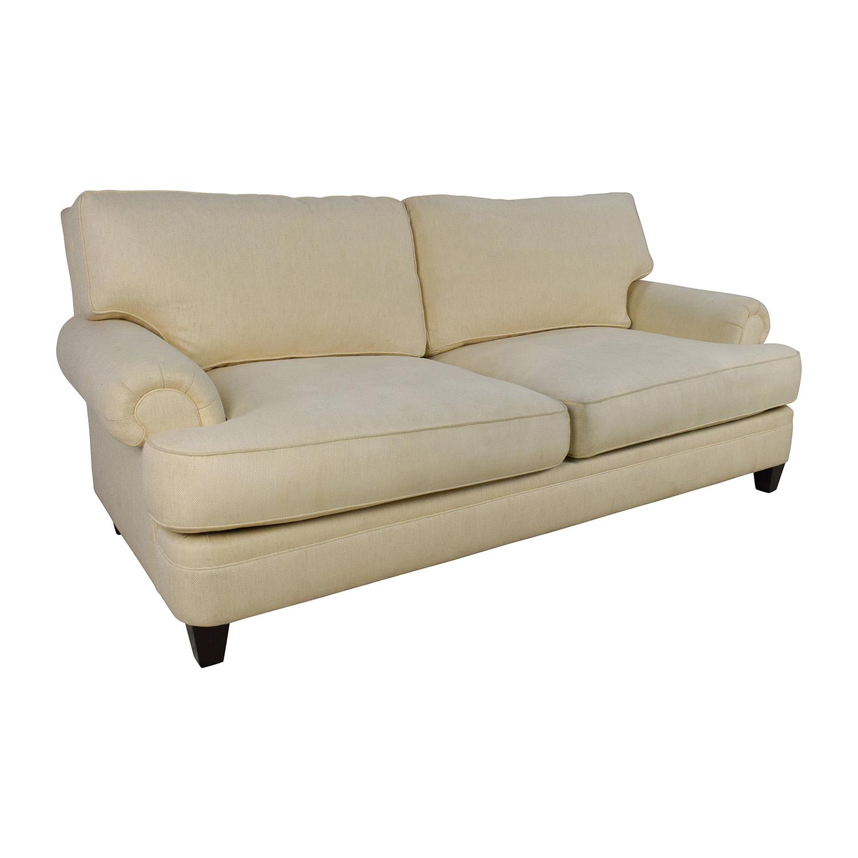 83 off henredon henredon fireside short beige 3 seater for Classic sofa