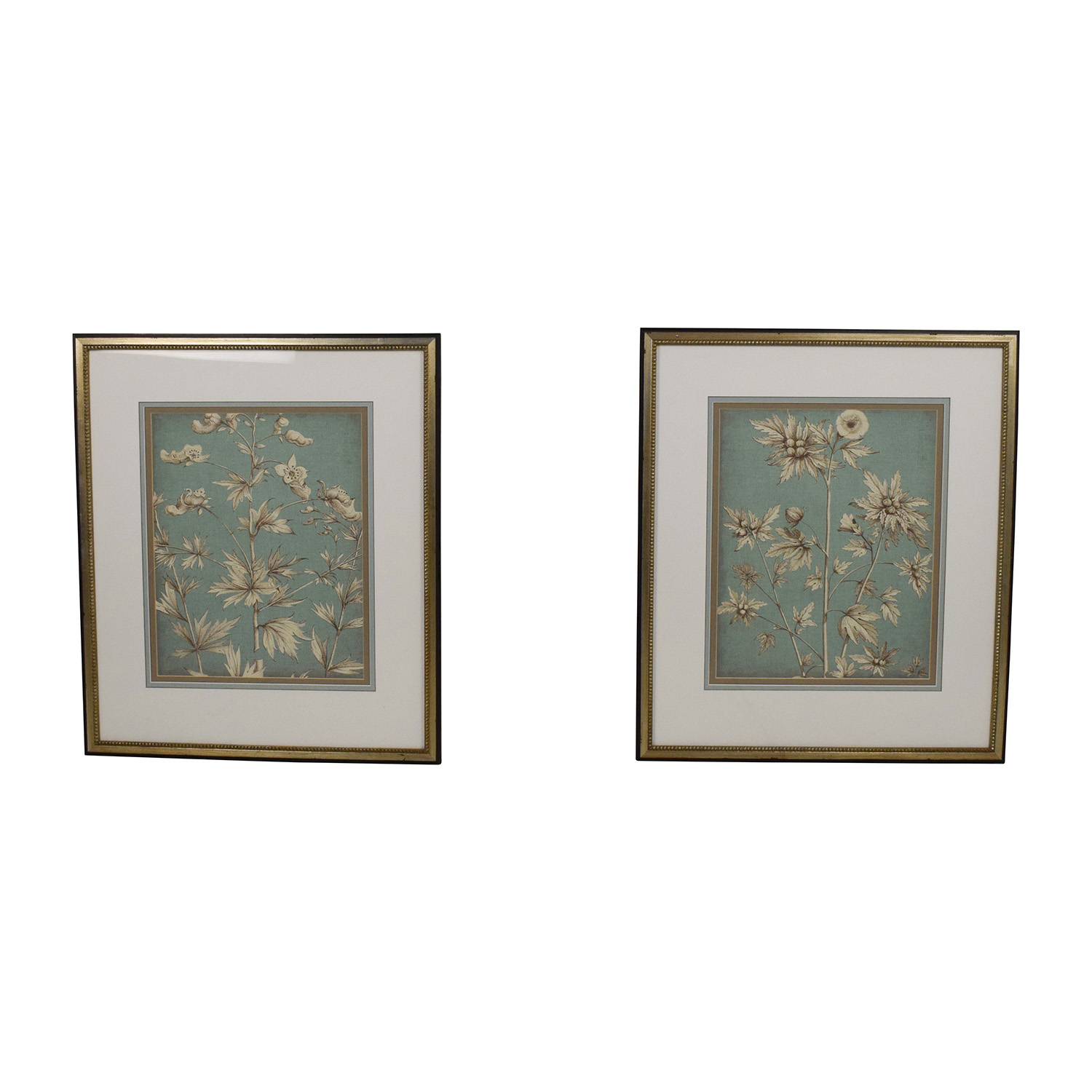 buy Ethan Allen Ethan Allen Pair of Decorative Floral Pictures online