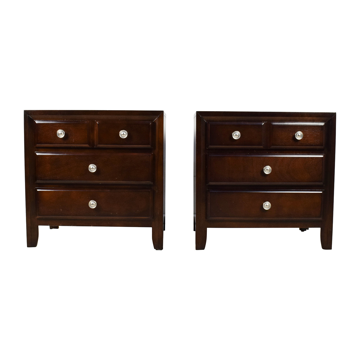Raymour and Flanigan Raymour & Flanigan Three Drawer Wood Nightstands