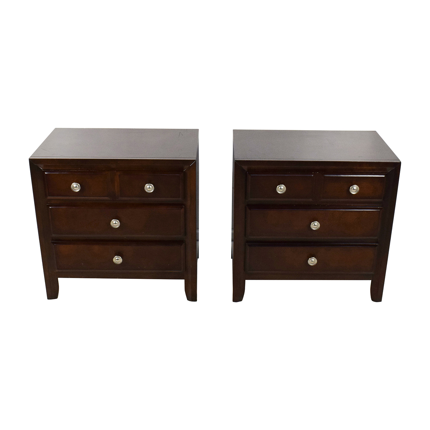Raymour and Flanigan Raymour & Flanigan Three Drawer Wood Nightstands coupon